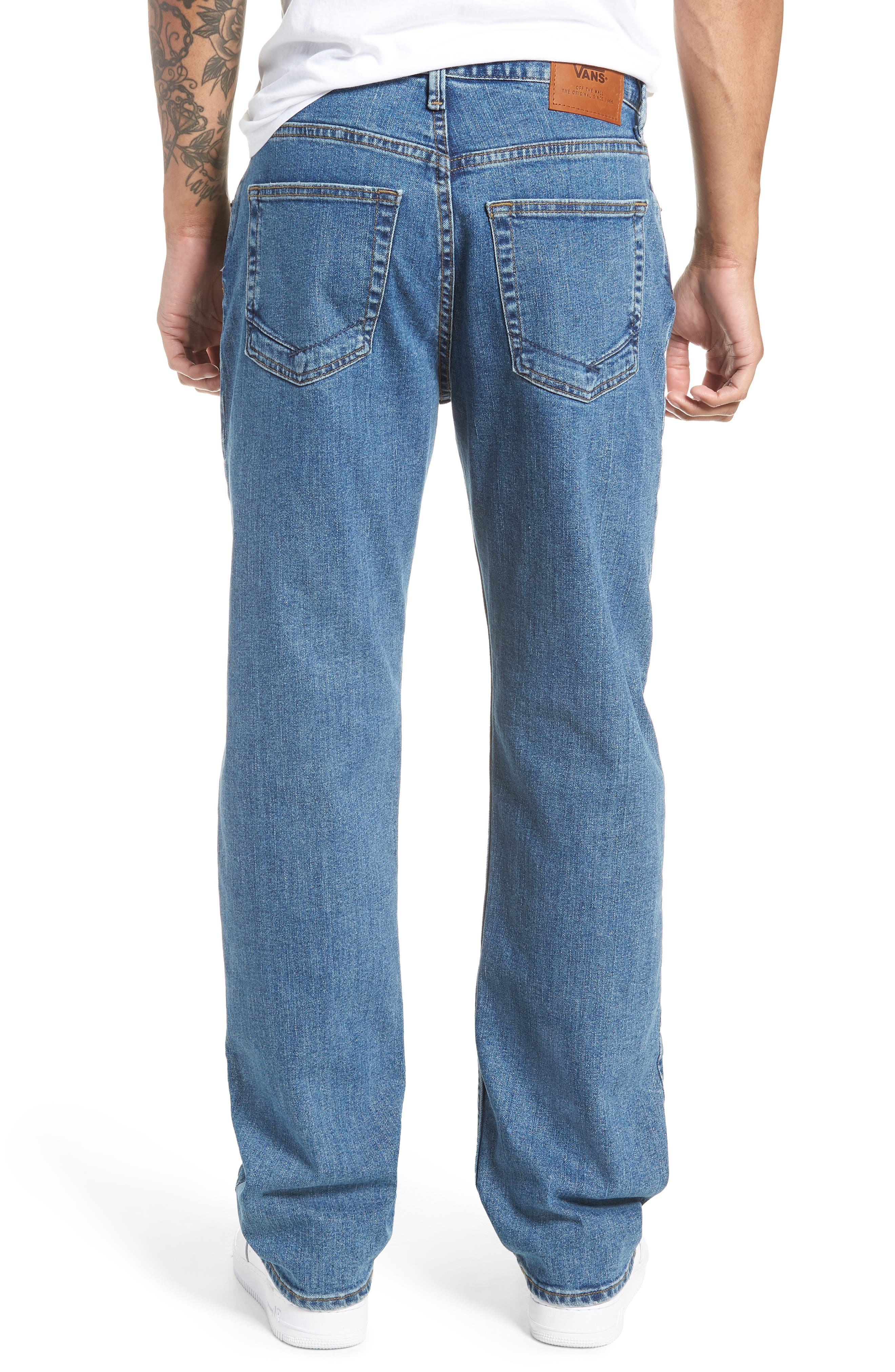 V96 Relaxed Fit Jeans,                             Alternate thumbnail 2, color,                             STONE WASH