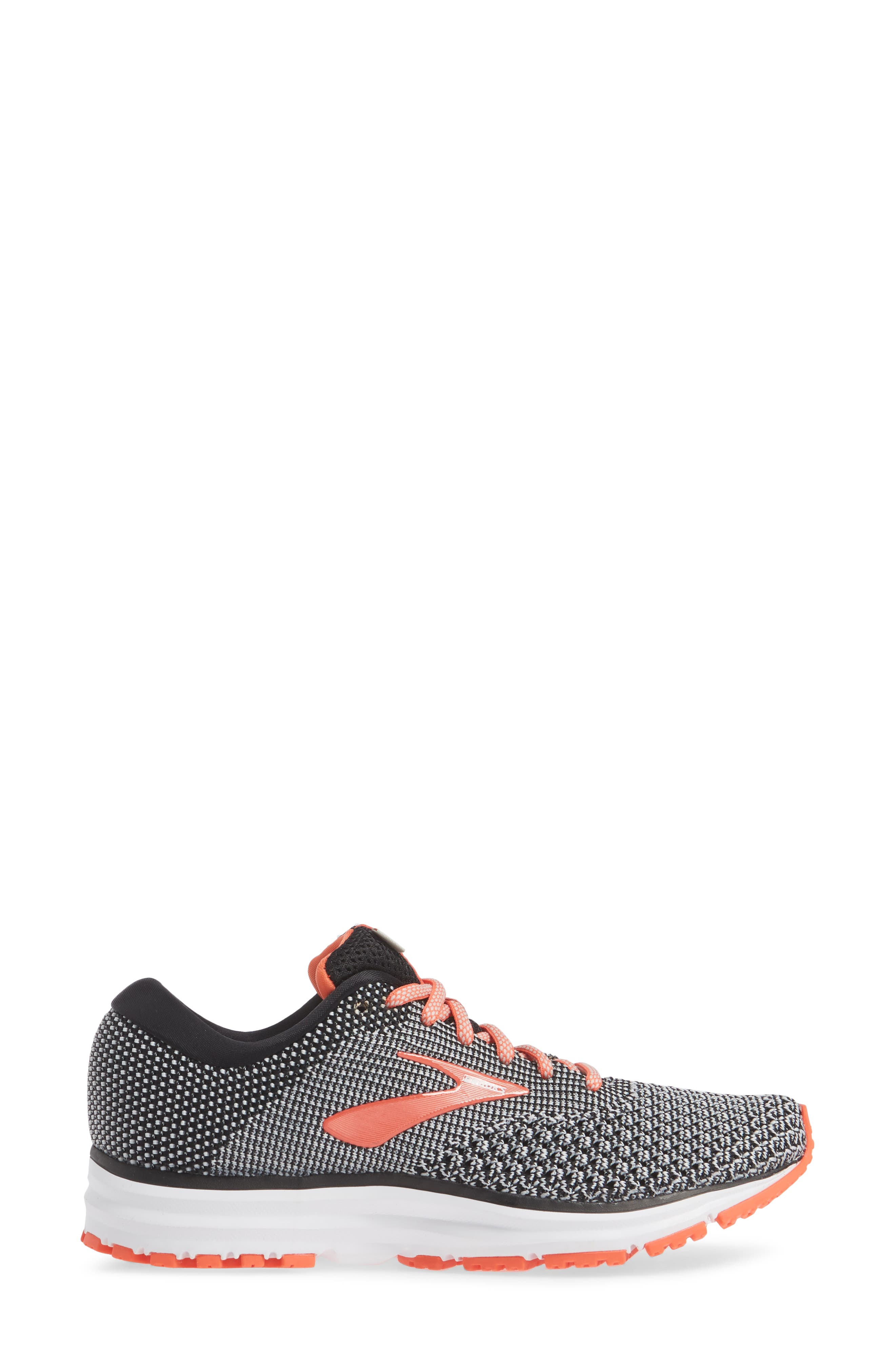 Revel 2 Running Shoe,                             Alternate thumbnail 3, color,                             BLACK/ LIGHT GREY/ CORAL