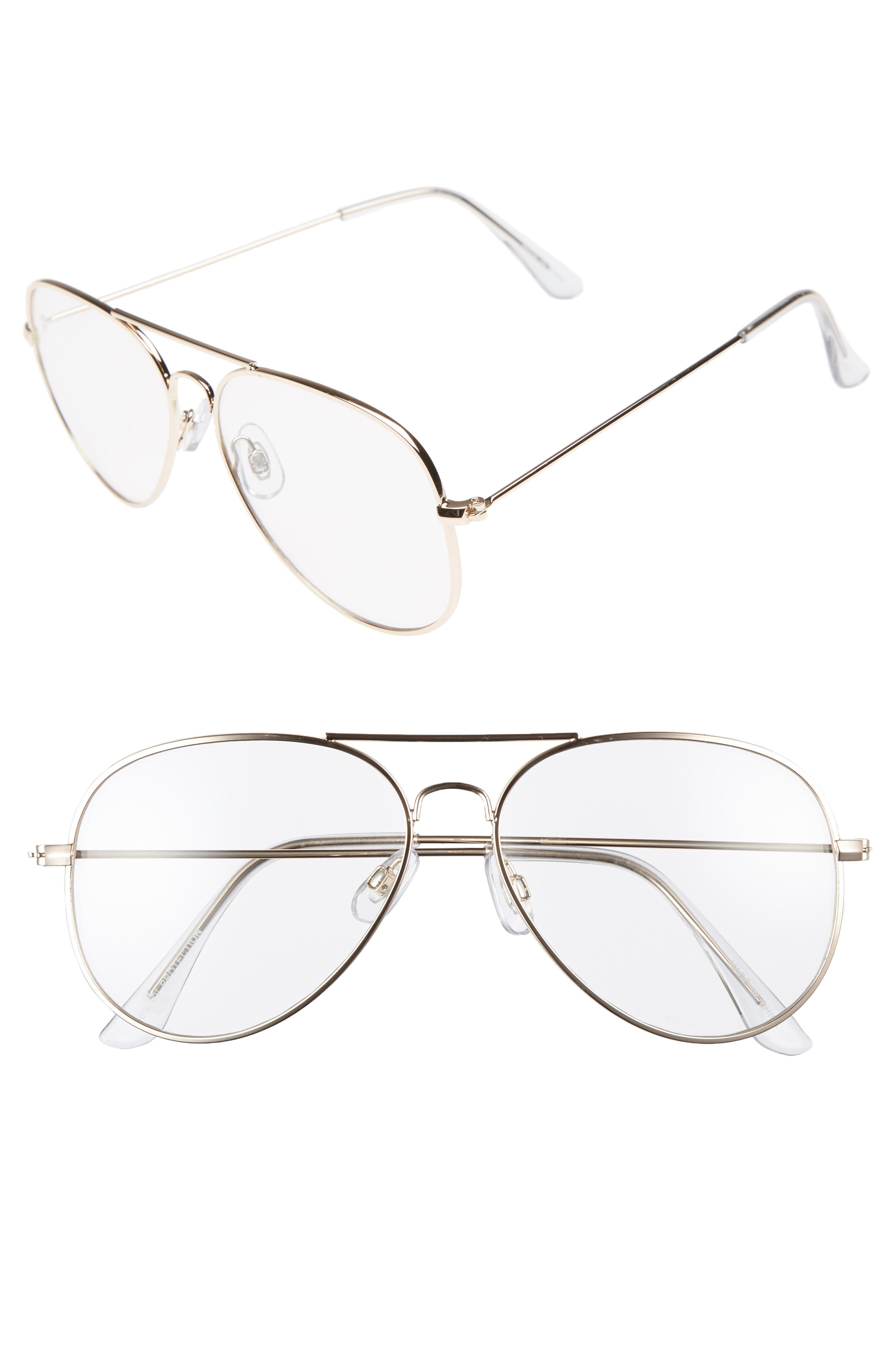 Mirrored Aviator 57mm Sunglasses,                             Main thumbnail 12, color,