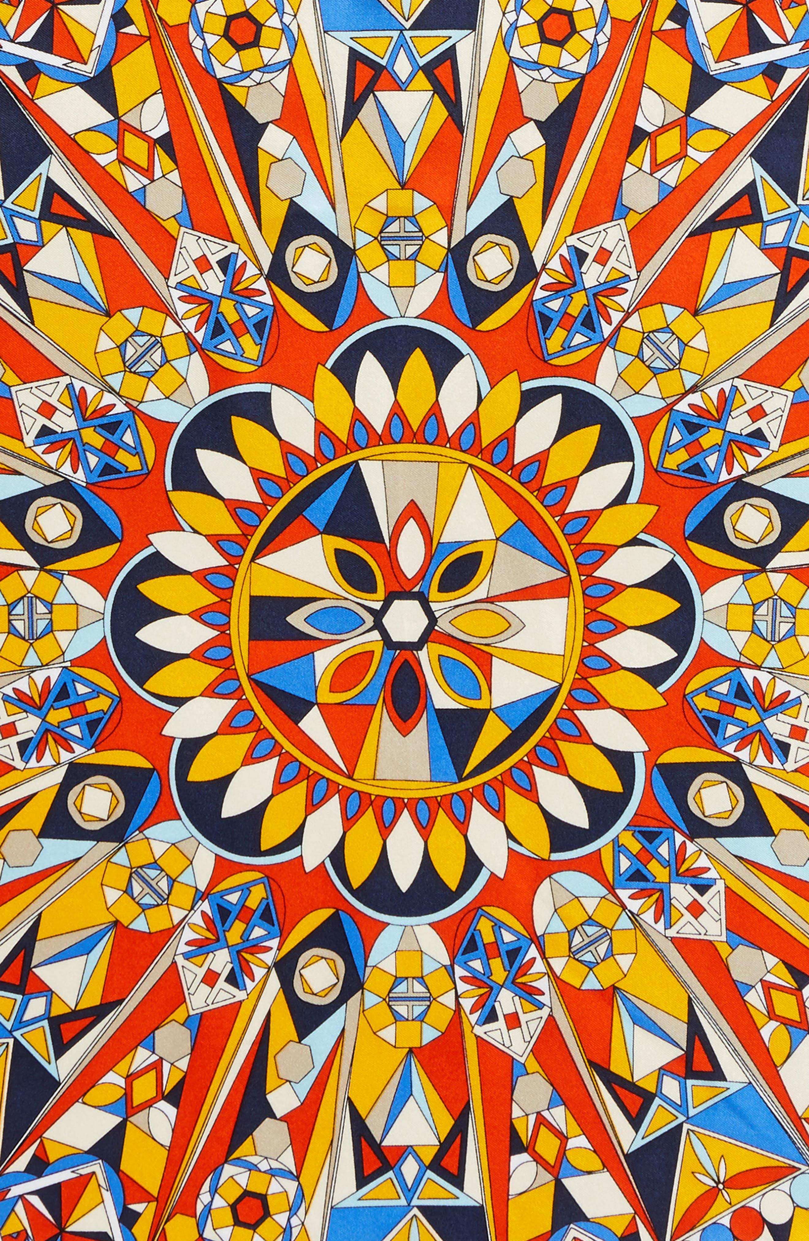 Psychedelic Geo Silk Neckerchief,                             Alternate thumbnail 8, color,