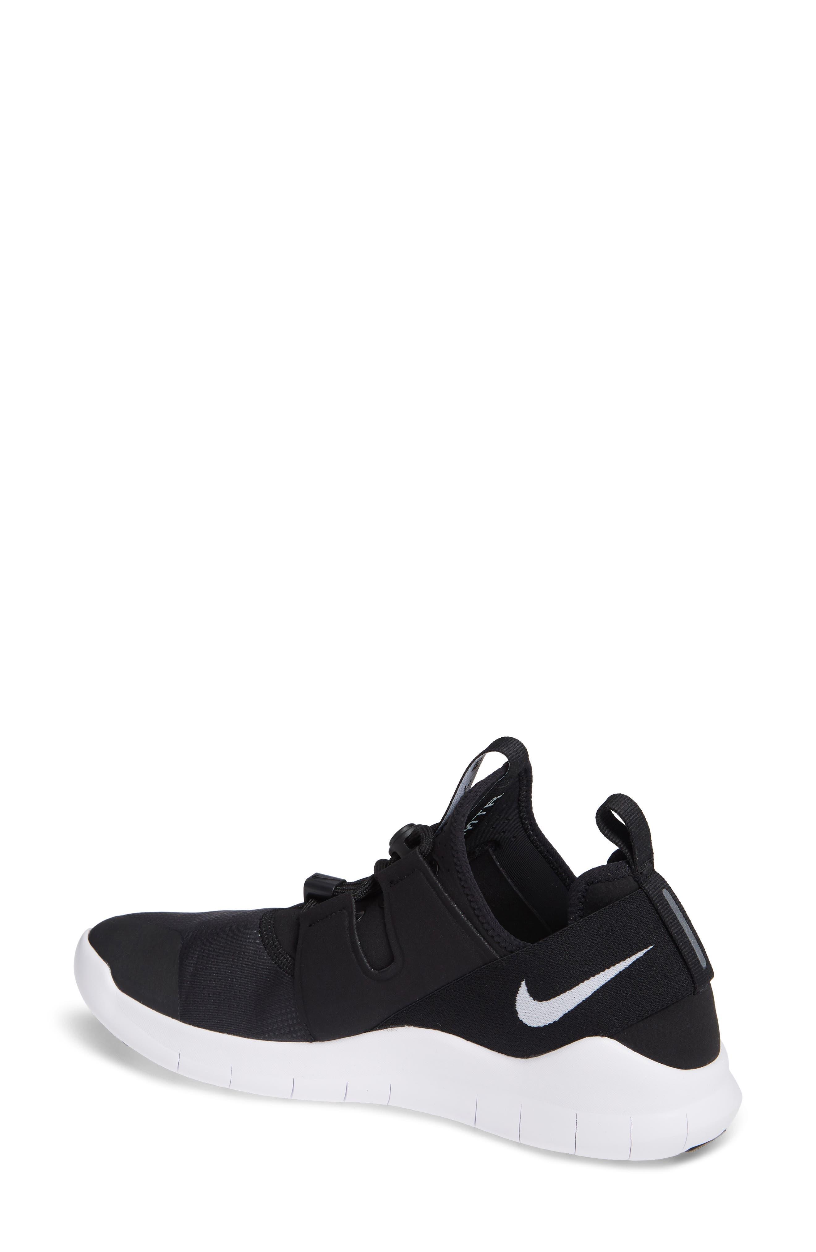 Free RN Commuter 2018 Running Shoe,                             Alternate thumbnail 2, color,                             BLACK/ WHITE