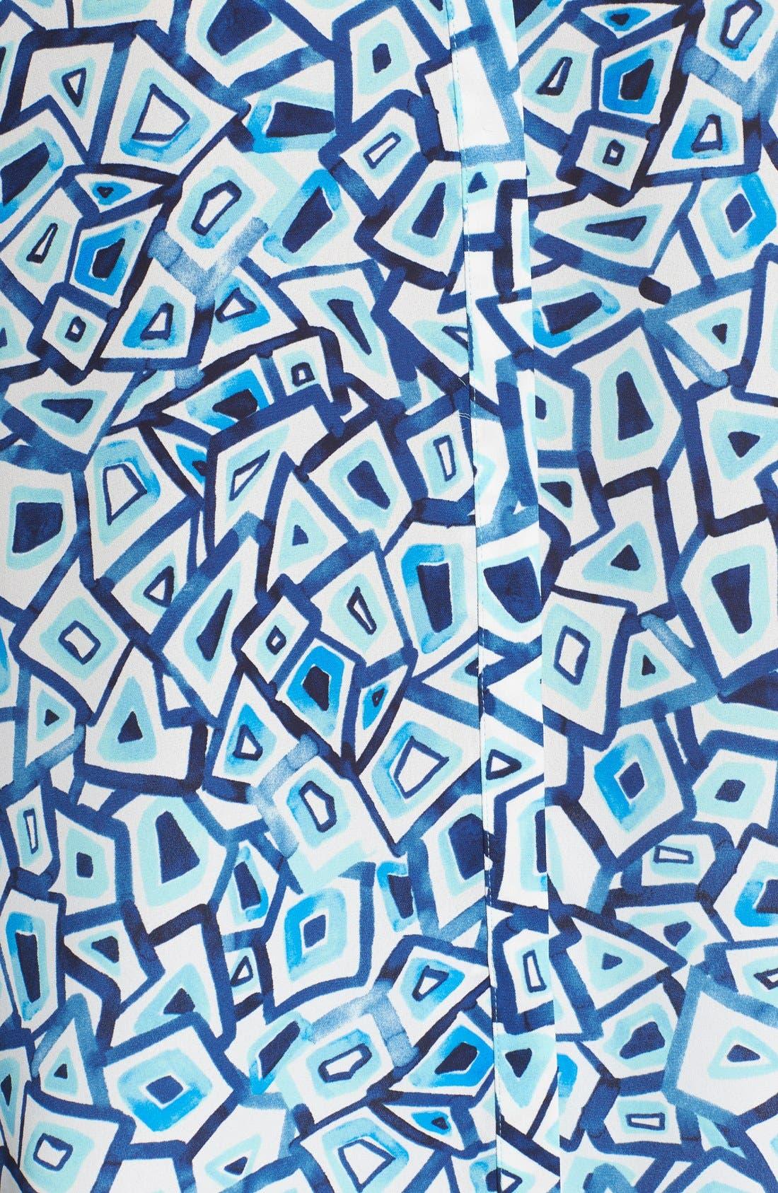 Pleat Back Sleeveless Split Neck Blouse,                             Alternate thumbnail 169, color,