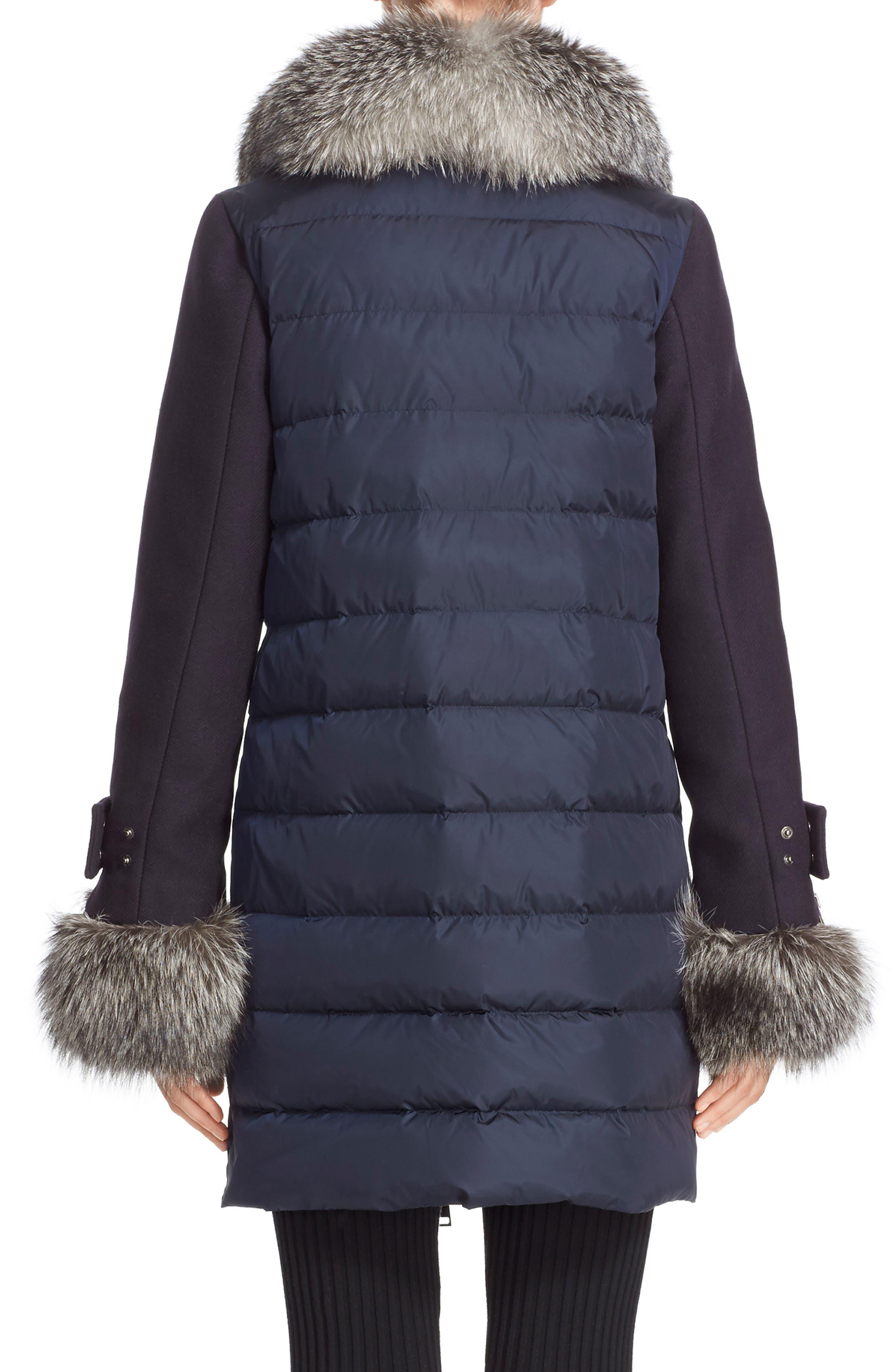 'Elestoria' Two-Piece Down Puffer Coat with Genuine Fox Fur Trim,                             Alternate thumbnail 2, color,                             419