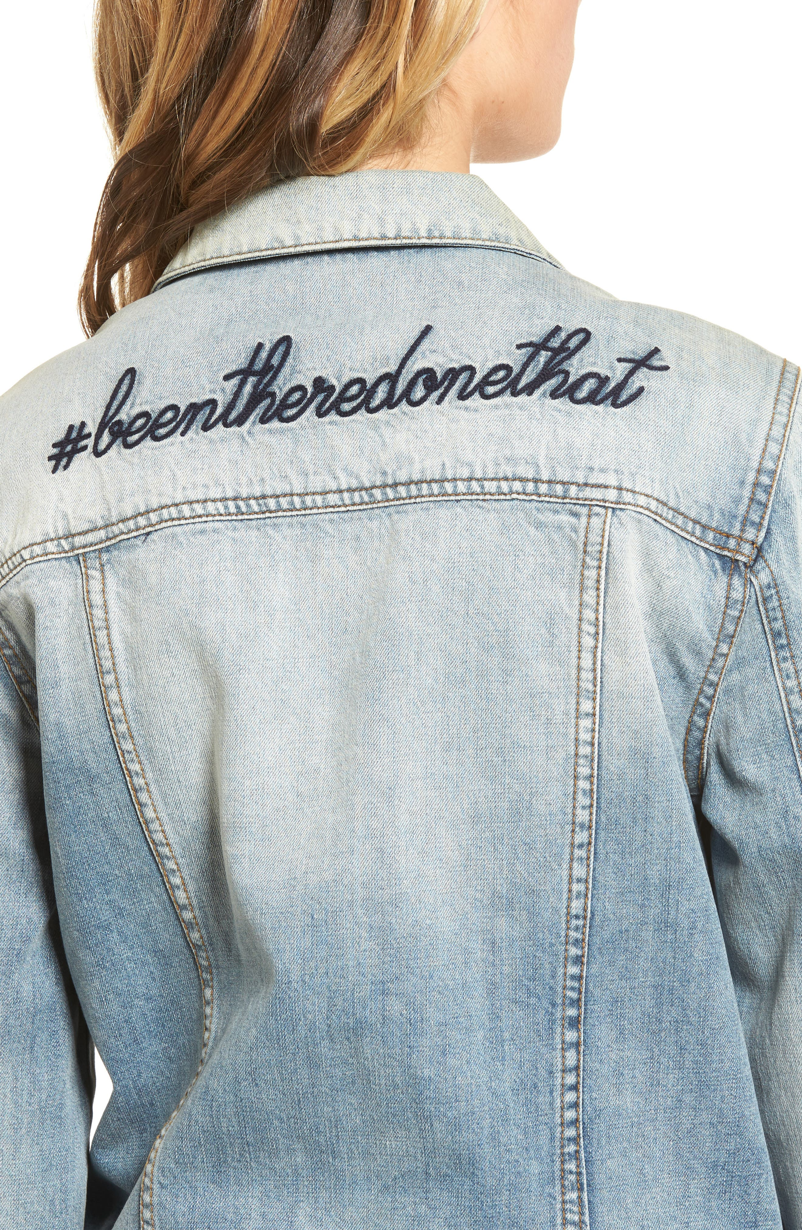 Been There Denim Jacket,                             Alternate thumbnail 4, color,                             400