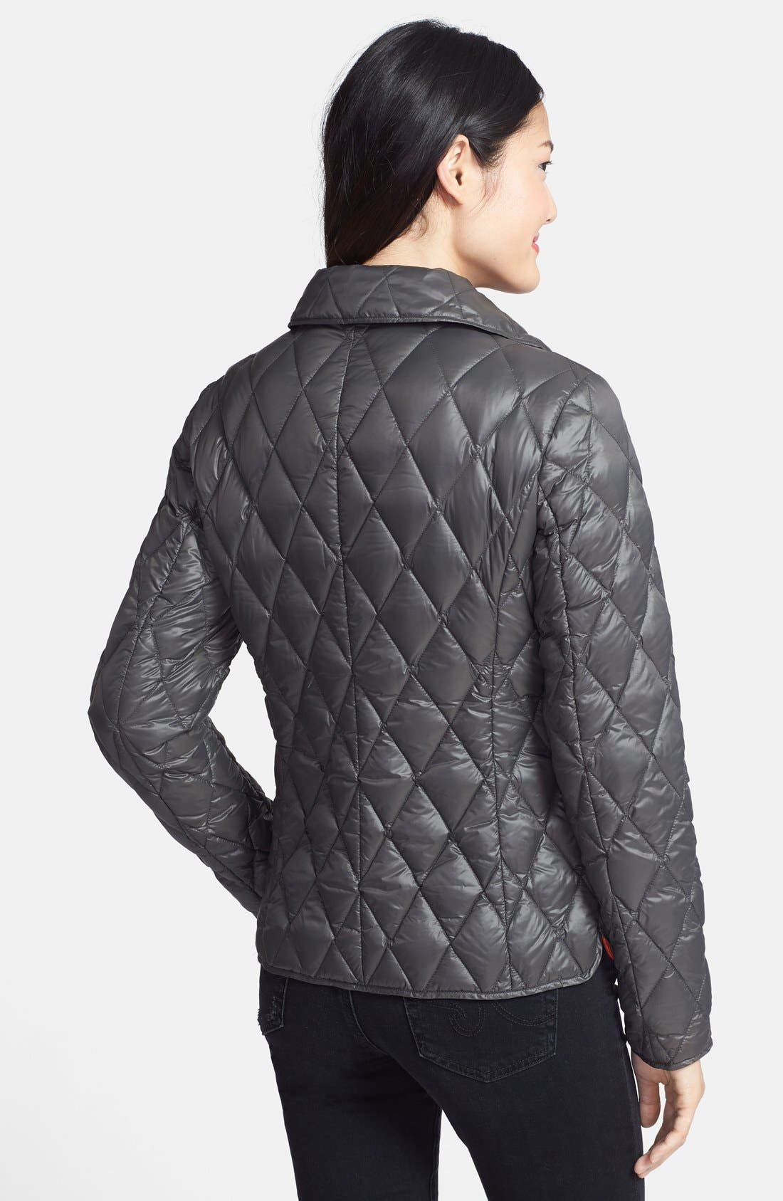 Snap Front Quilted Down Jacket,                             Alternate thumbnail 2, color,                             077