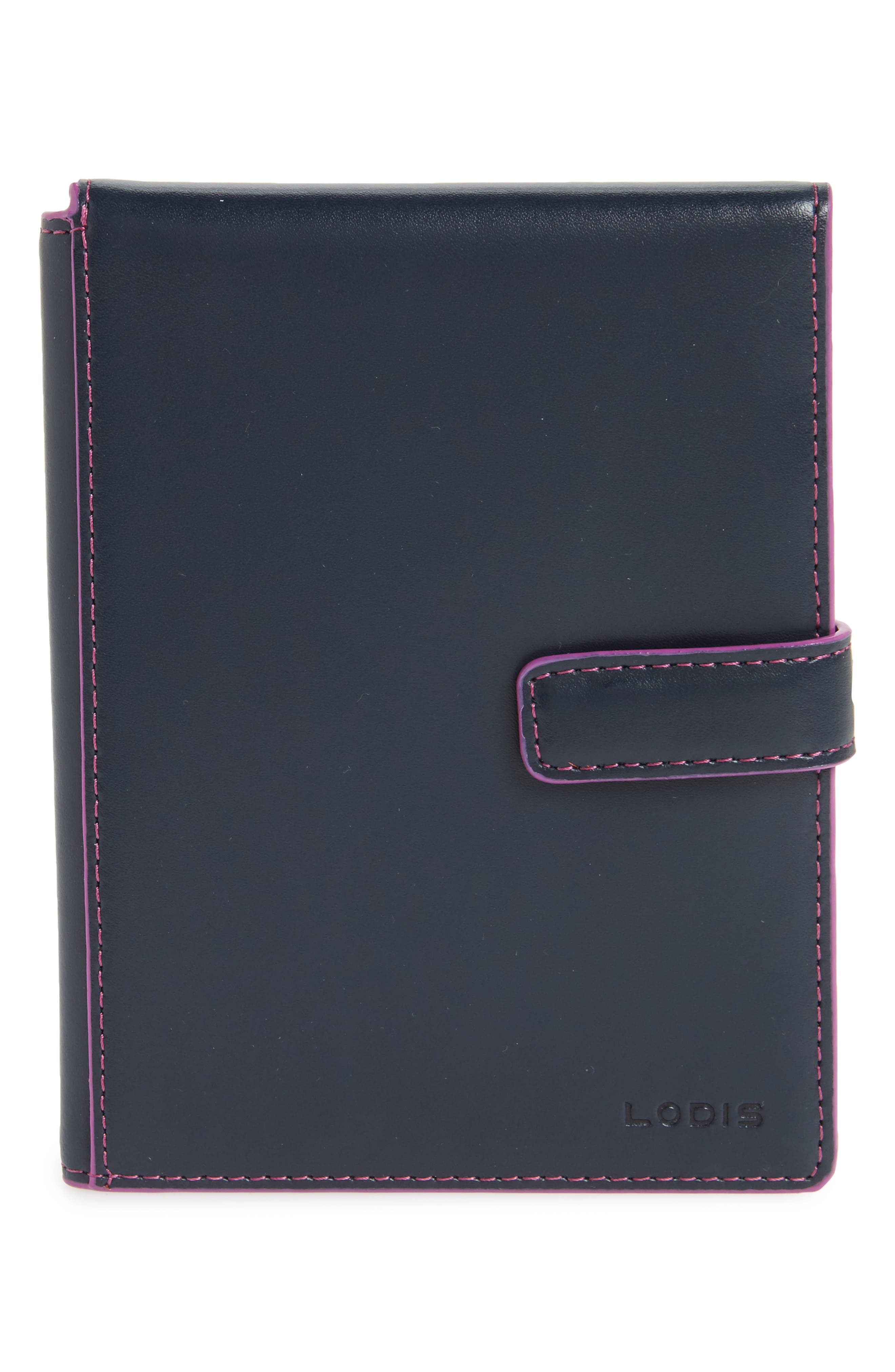 Audrey RFID Leather Passport Wallet,                             Main thumbnail 2, color,