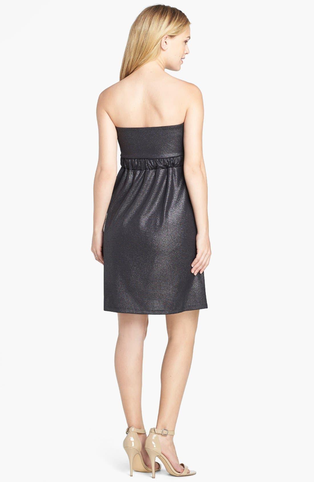 Strapless Dress,                             Alternate thumbnail 3, color,                             LUREX