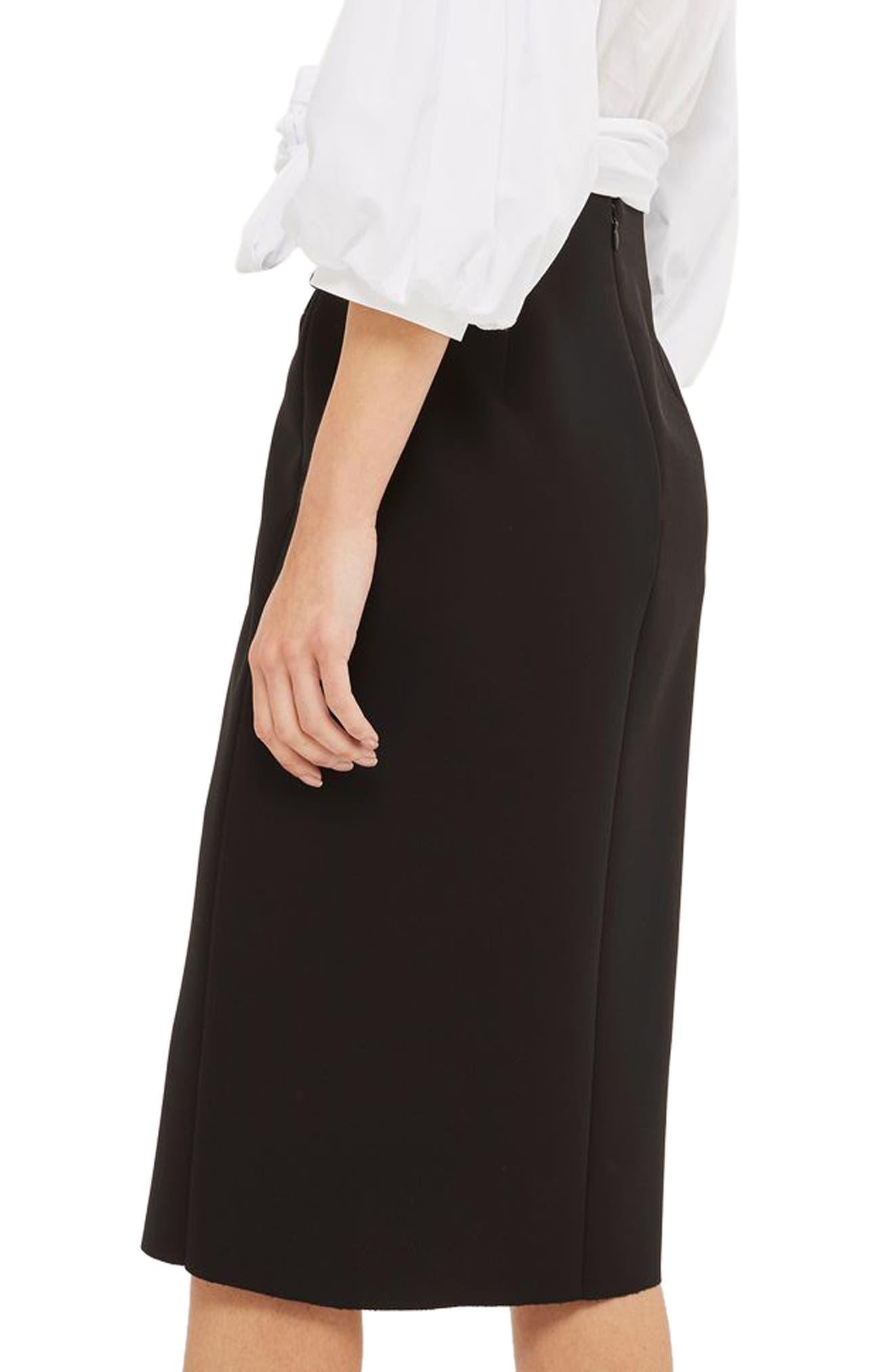 Snap Midi Skirt,                             Alternate thumbnail 2, color,                             001