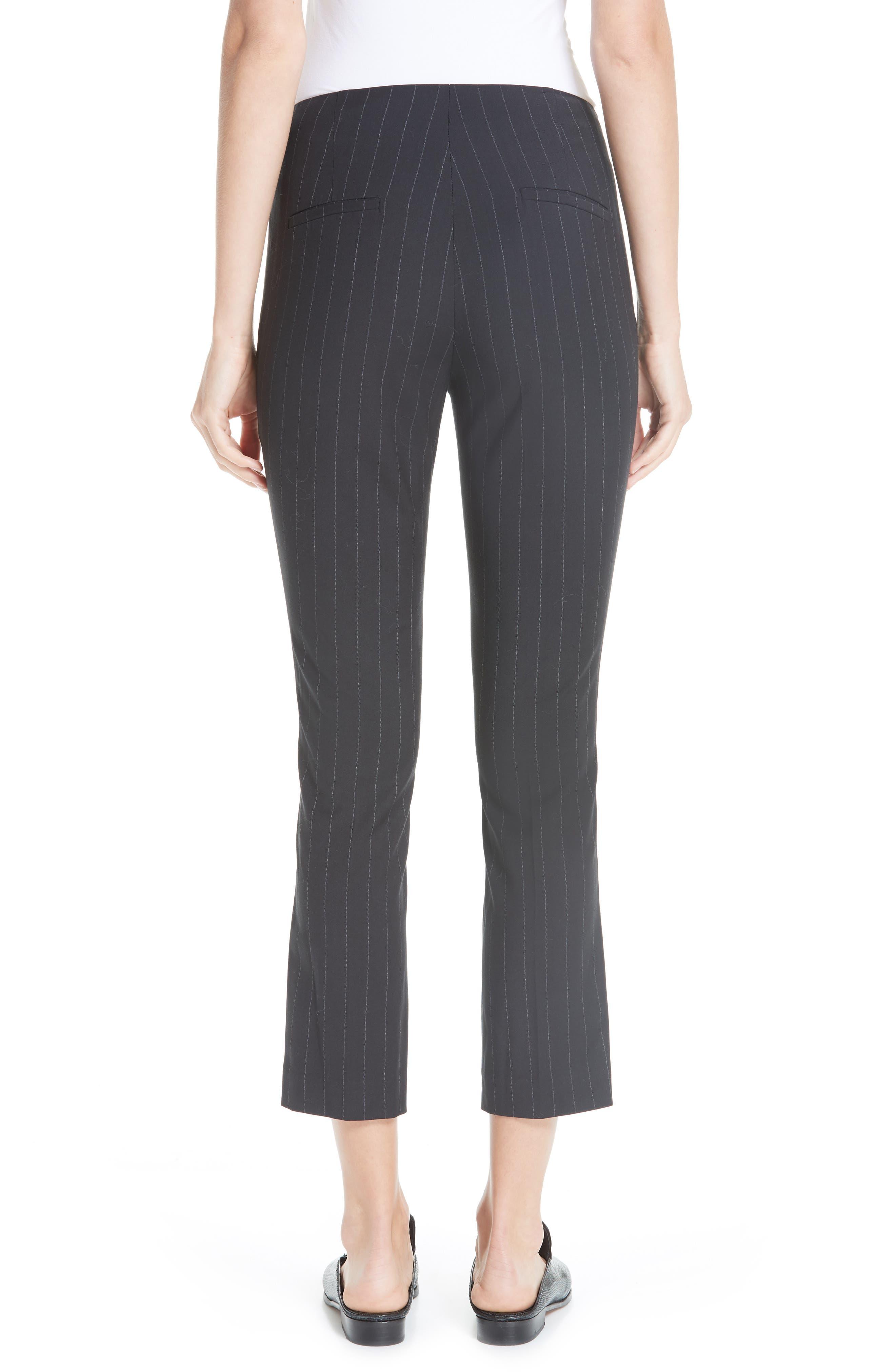 Bango Pinstripe Crop Trousers,                             Alternate thumbnail 2, color,                             001
