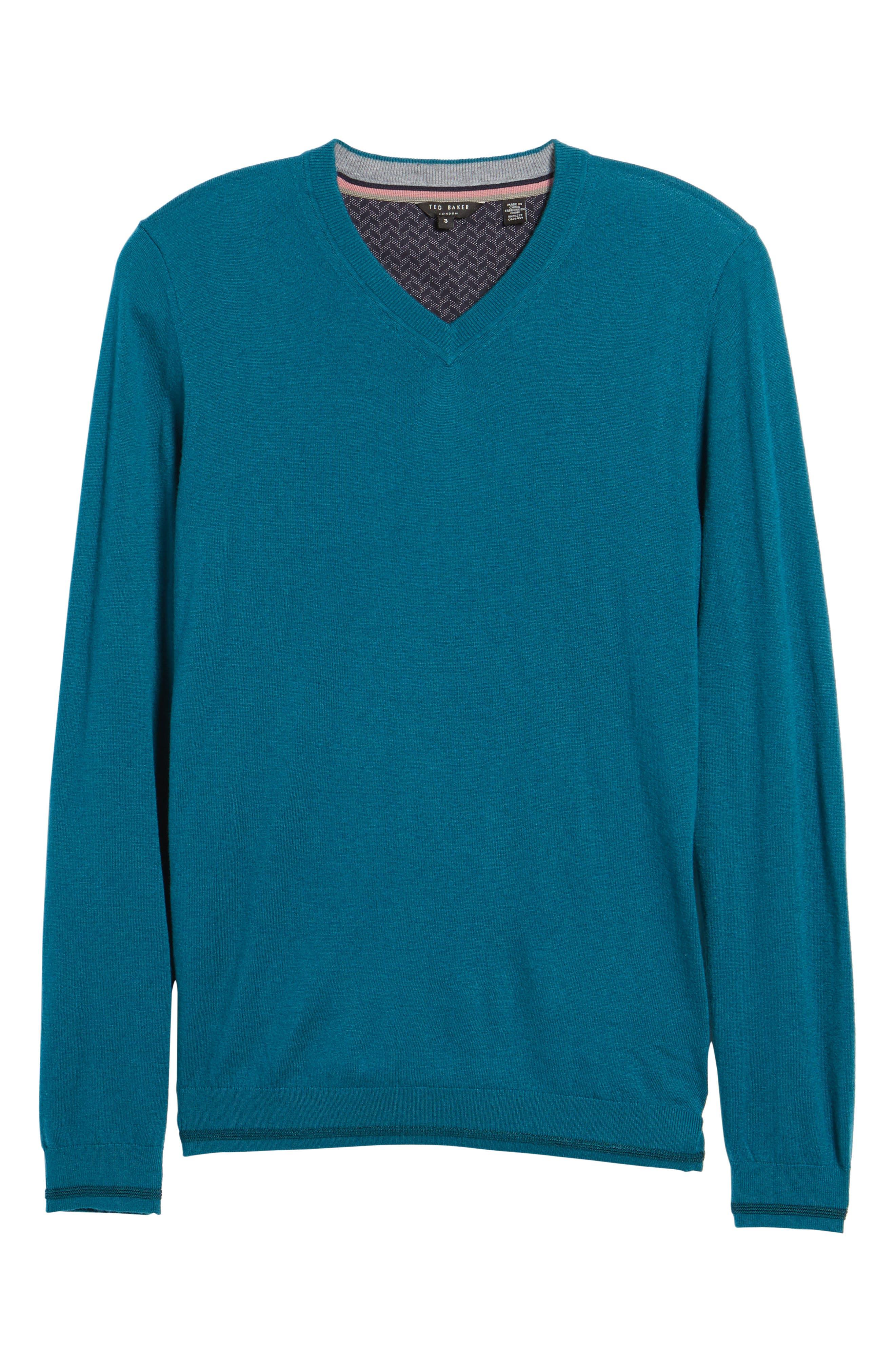 V-Neck Sweater,                             Alternate thumbnail 23, color,