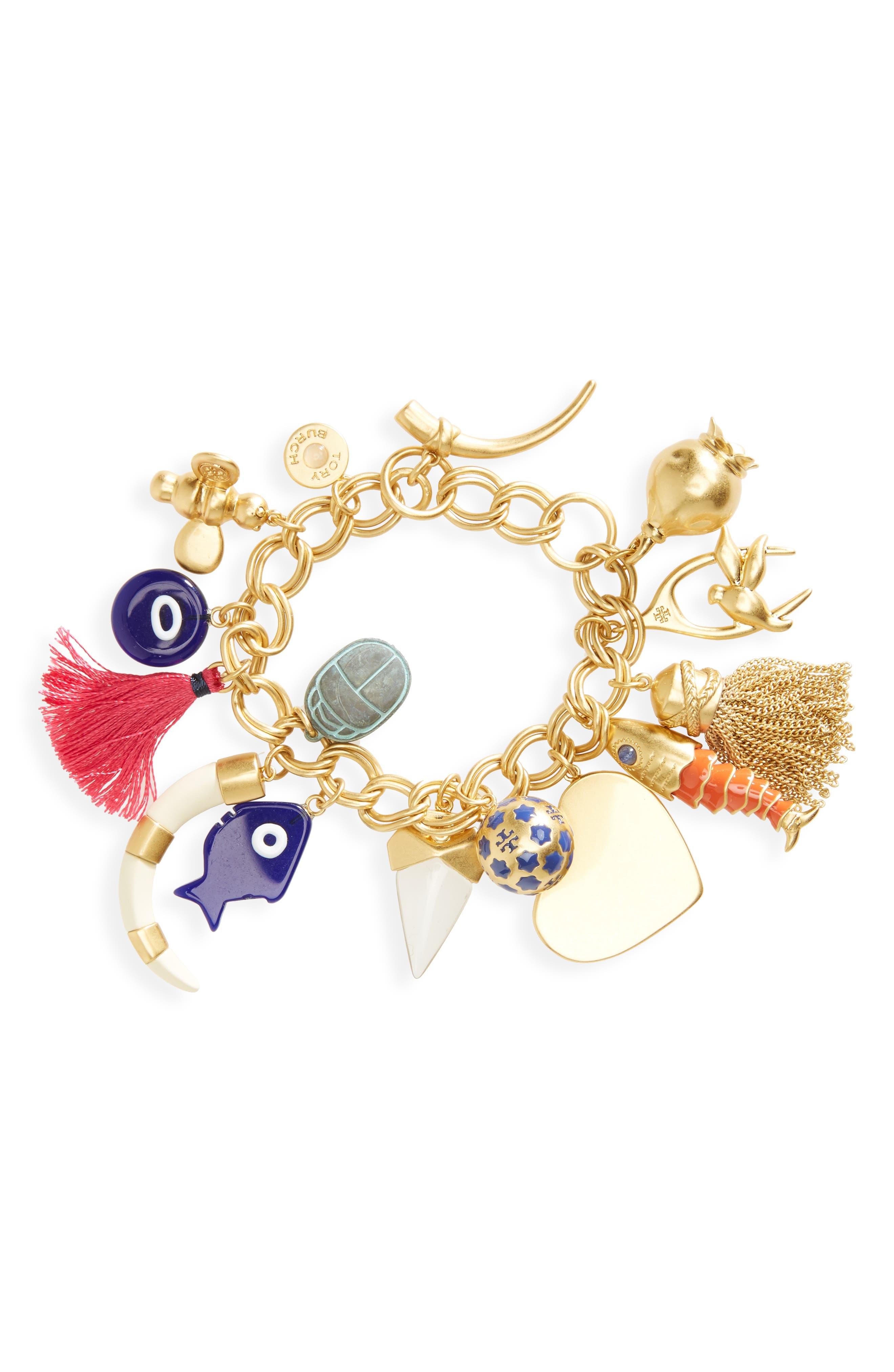 Logo Charm Bracelet,                             Main thumbnail 1, color,                             710