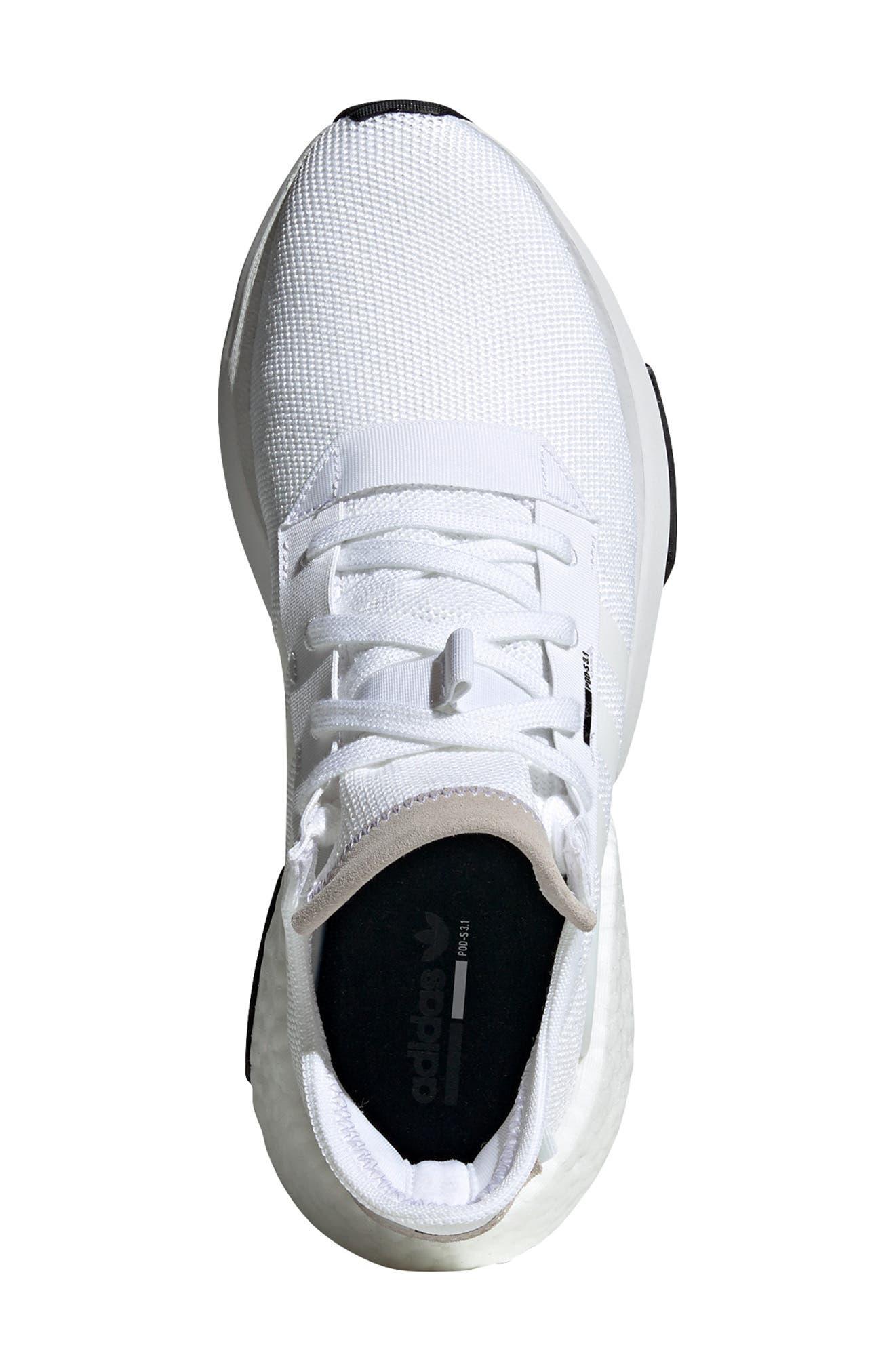 Pod S3.1 Sneaker,                             Alternate thumbnail 4, color,                             WHITE/ BLACK
