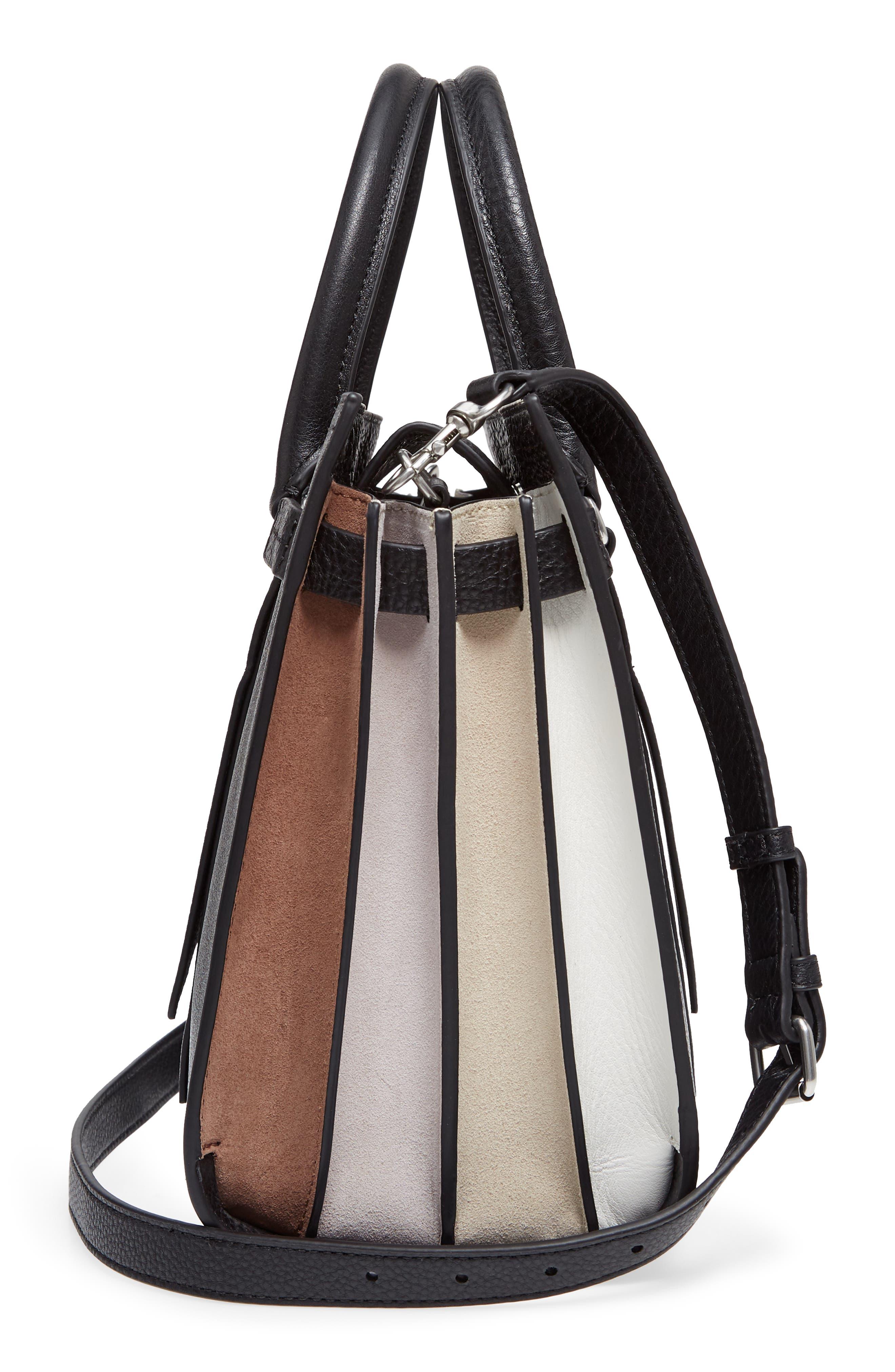 Sherry Calfskin Leather Satchel,                             Alternate thumbnail 5, color,                             002