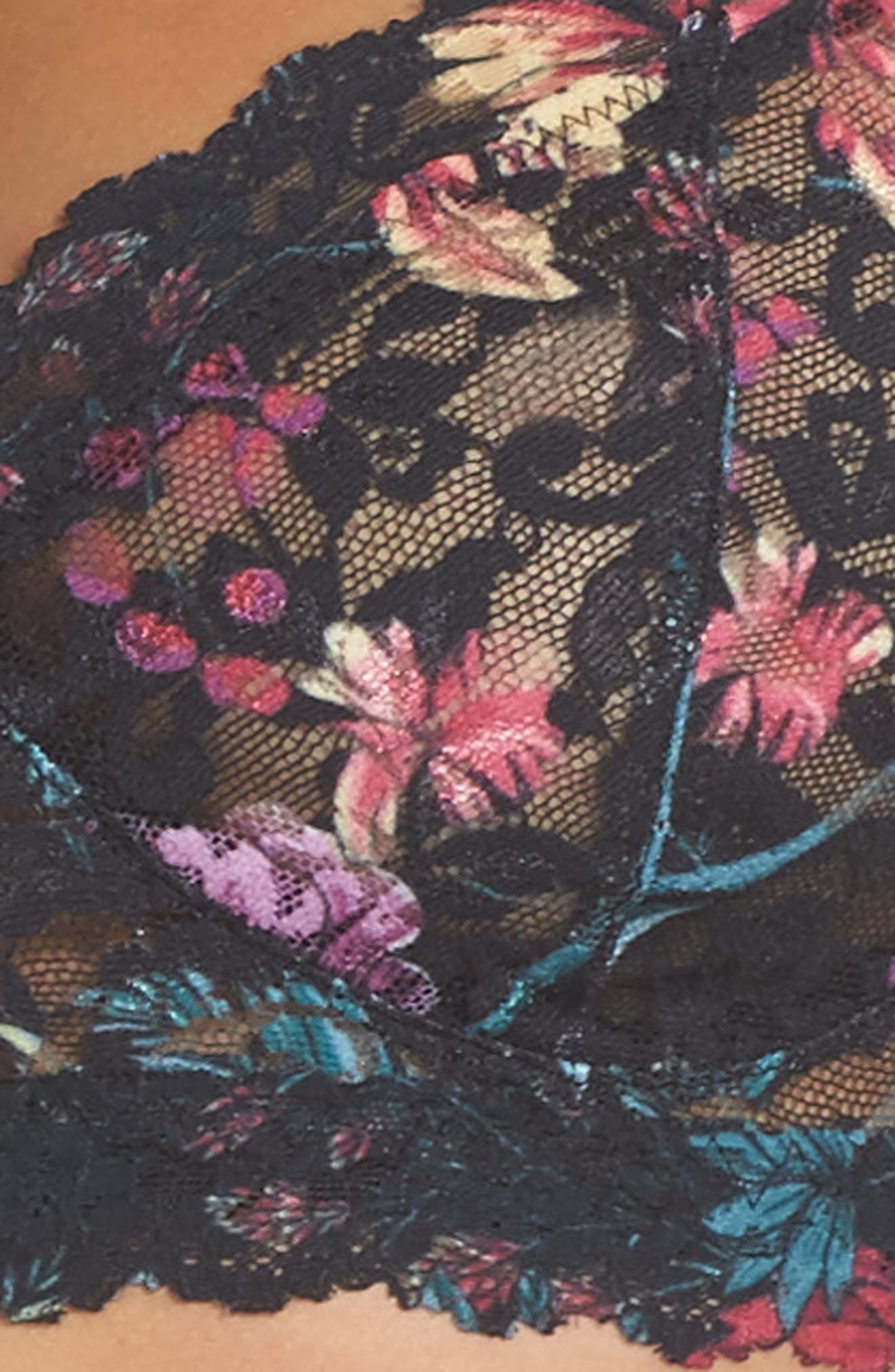Moody Blooms Retro Bralette,                             Alternate thumbnail 4, color,                             001