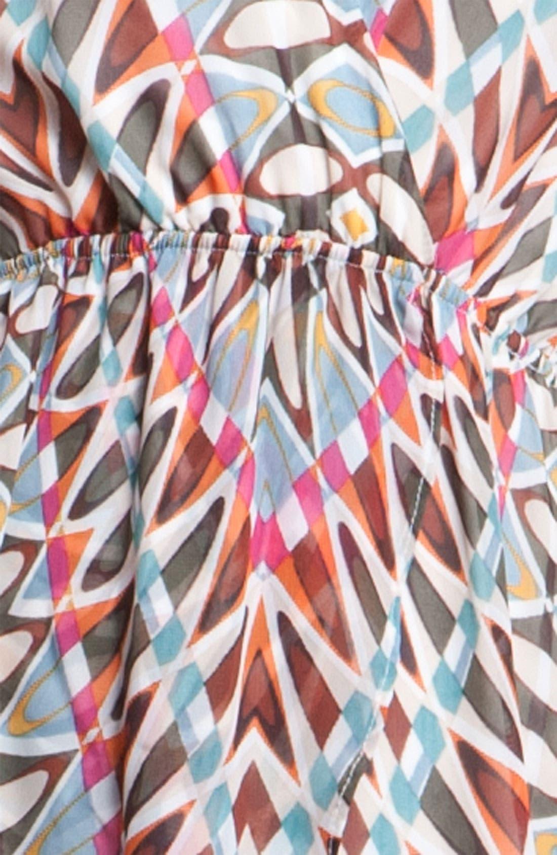 Print Surplice Maxi Dress,                             Alternate thumbnail 3, color,                             250