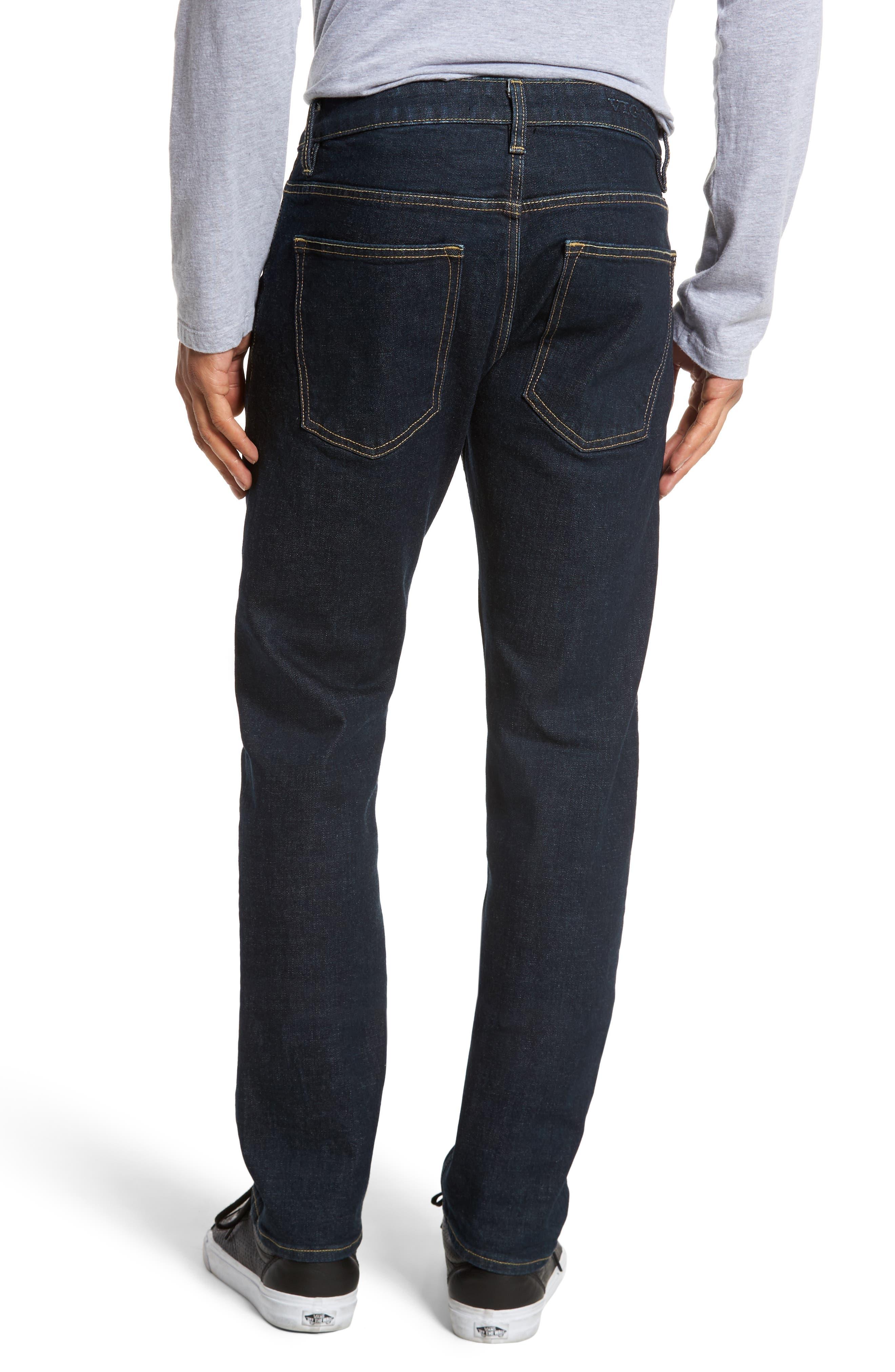 VIGOSS,                             Slim Straight Leg Jeans,                             Alternate thumbnail 2, color,                             DARK RINSE