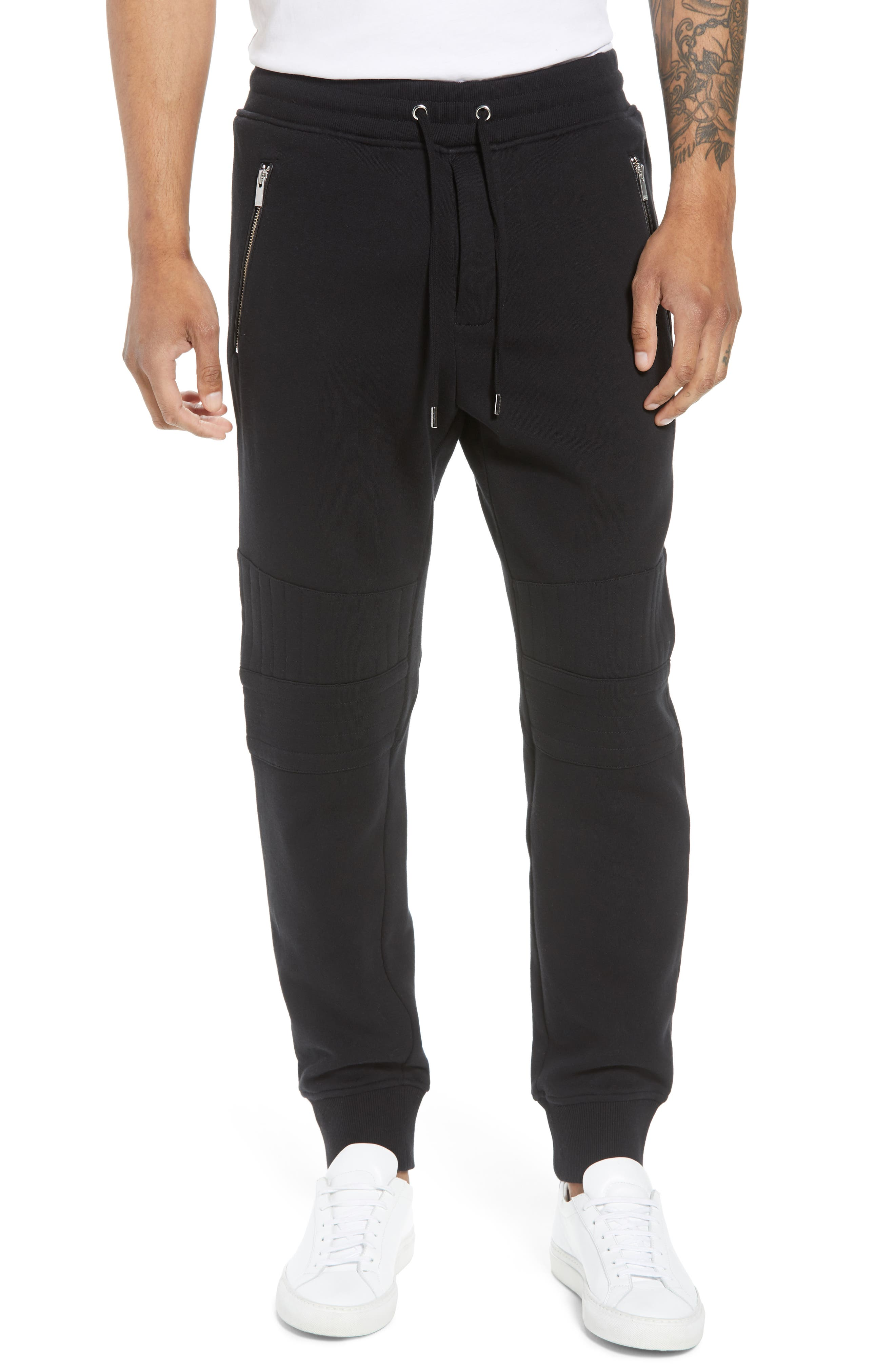 Classic Slim Fit Fleece Joggers,                             Main thumbnail 1, color,                             BLACK BLA01