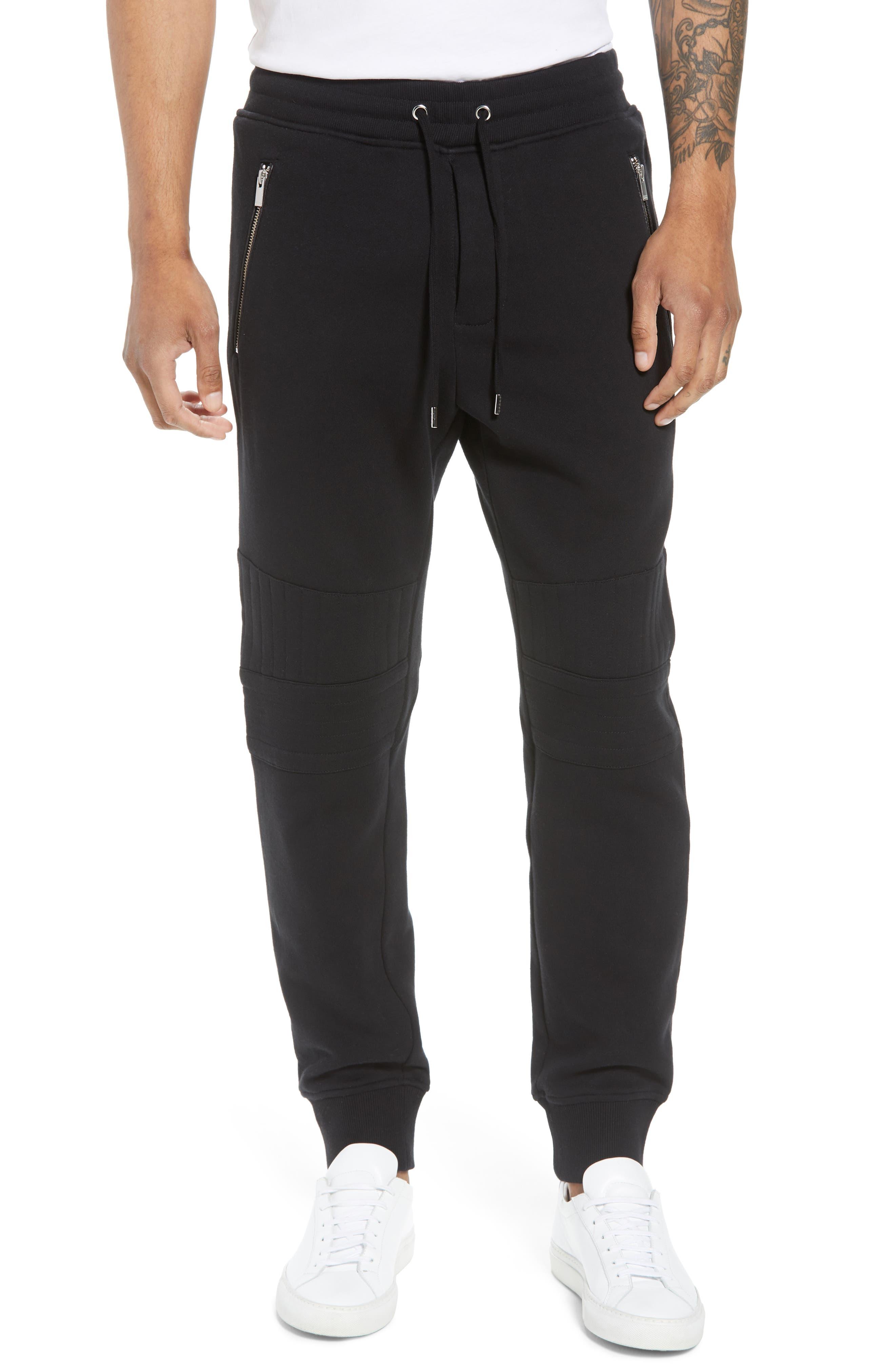 Classic Slim Fit Fleece Joggers,                         Main,                         color, BLACK BLA01