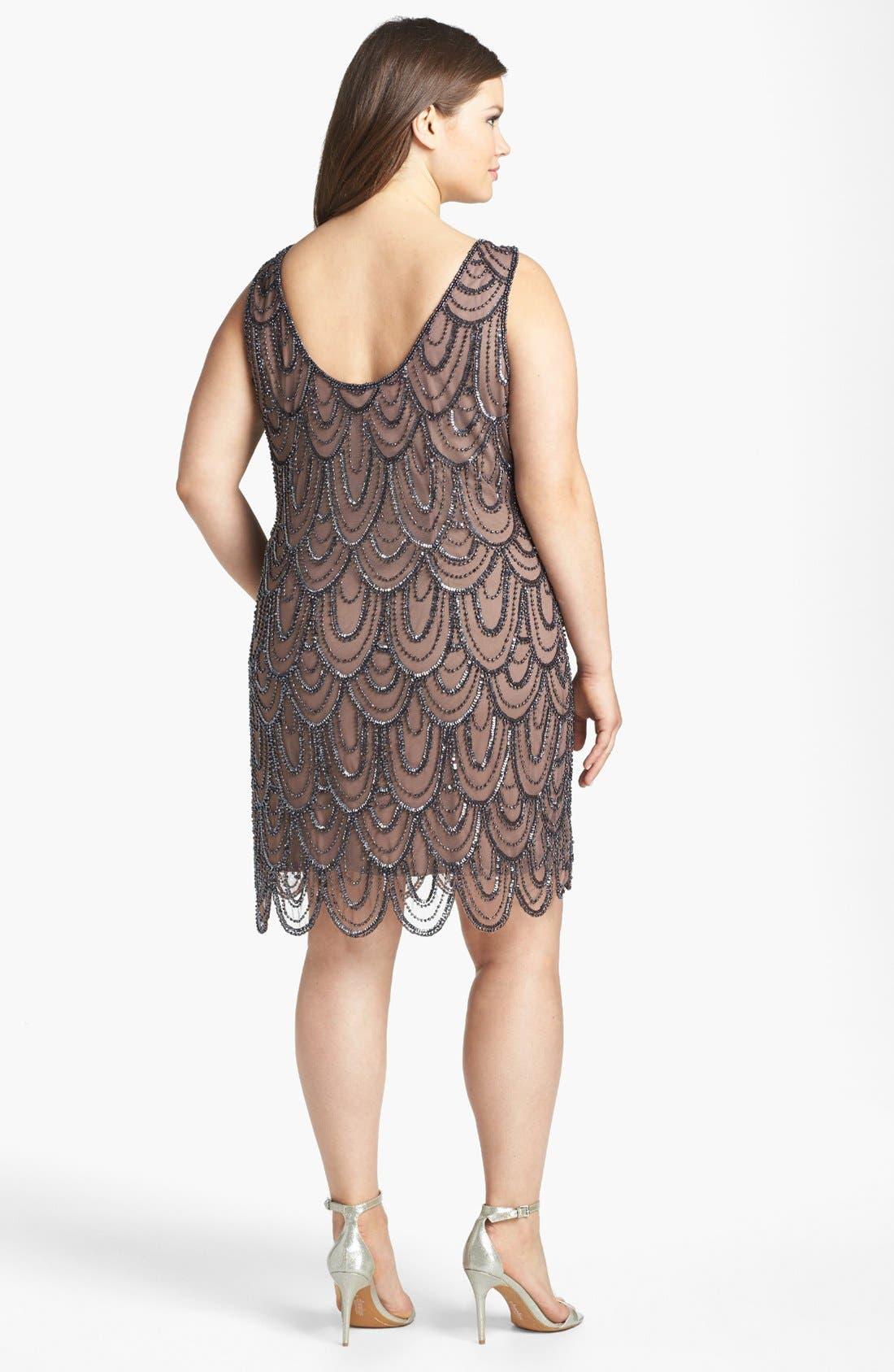 Beaded Sheath Dress,                             Alternate thumbnail 42, color,