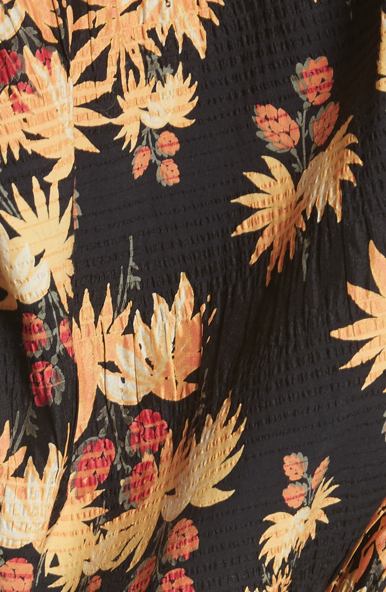Delirium Silk & Stretch Cotton Off the Shoulder Top,                             Alternate thumbnail 5, color,