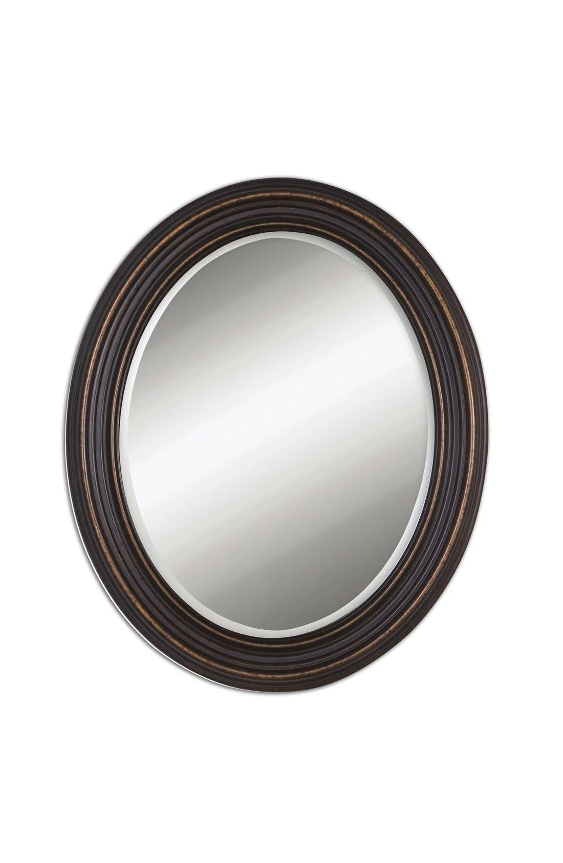 'Ovesca' Oval Mirror,                             Main thumbnail 1, color,                             001
