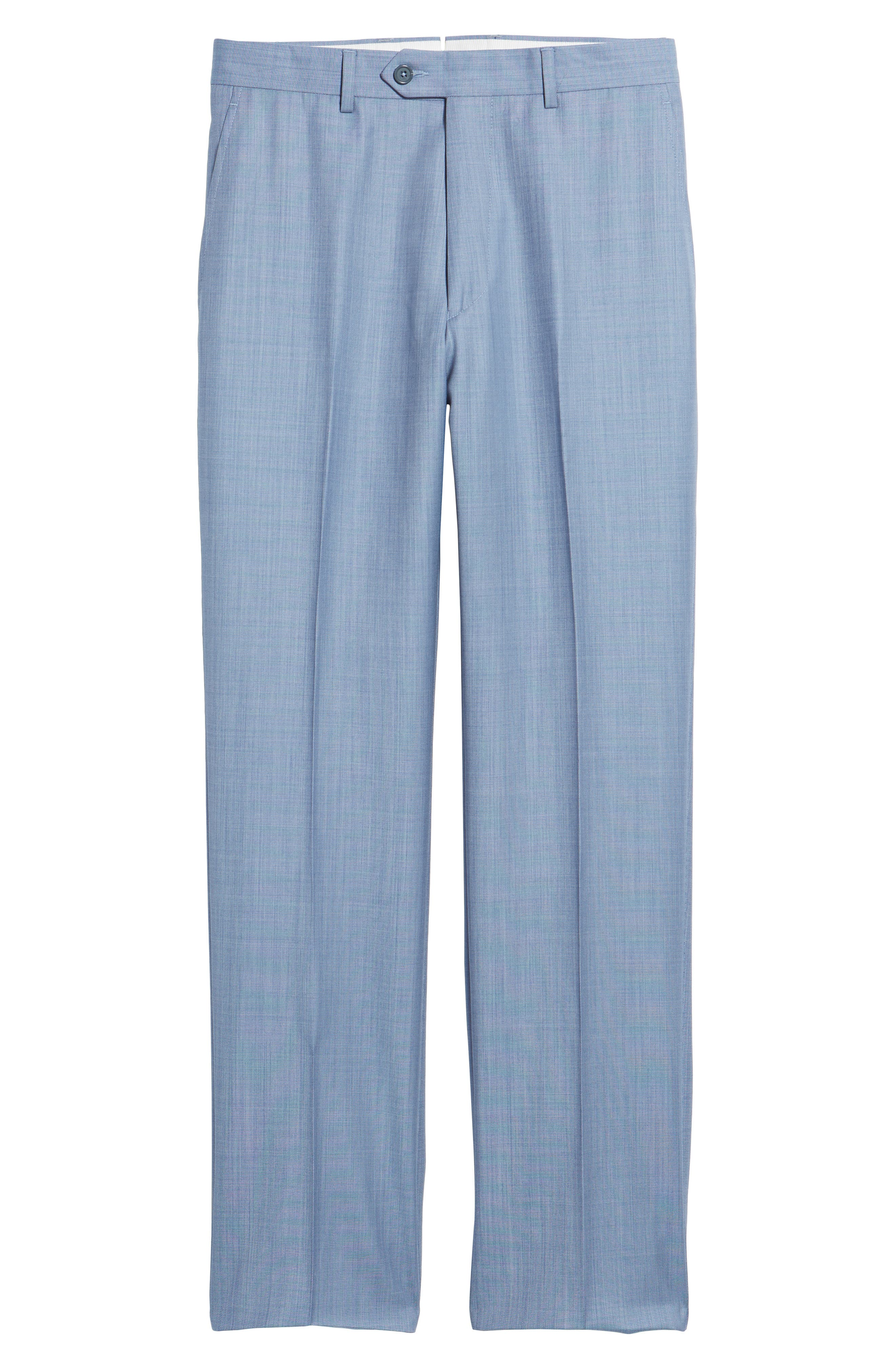 Flat Front Solid Wool Trousers,                             Alternate thumbnail 18, color,