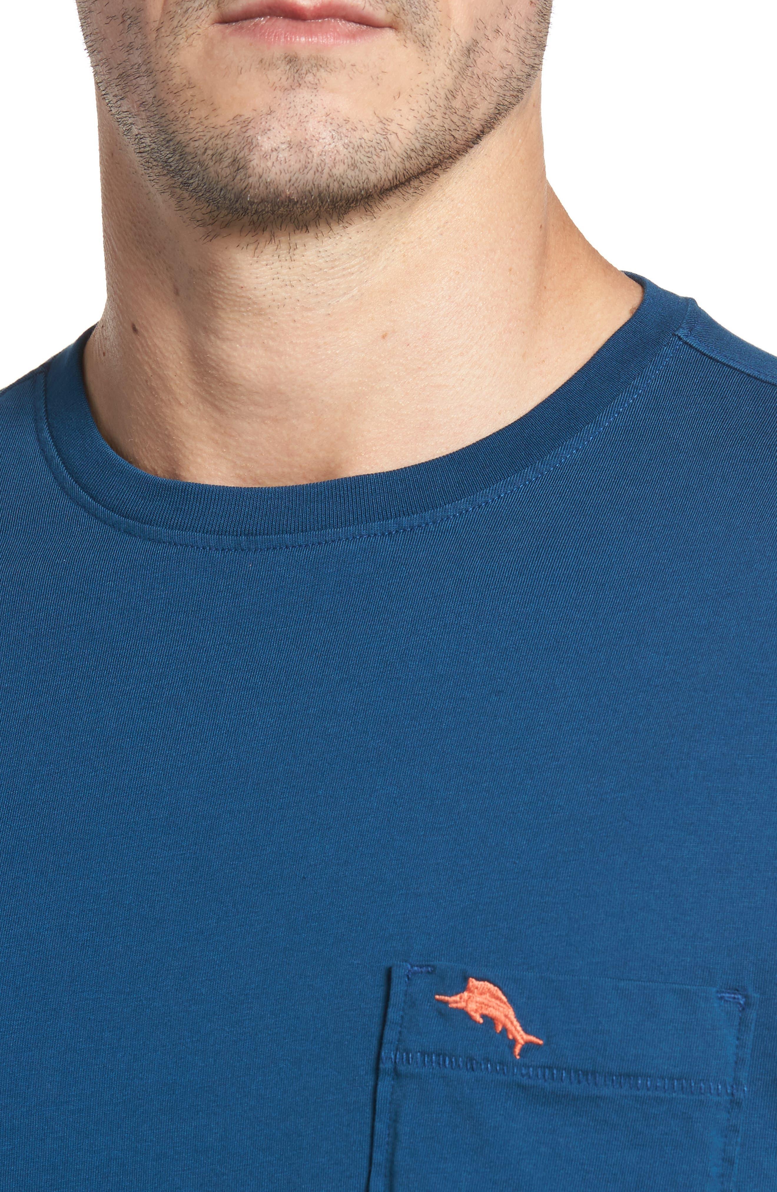 New Bali Sky Pima Cotton Pocket T-Shirt,                             Alternate thumbnail 100, color,