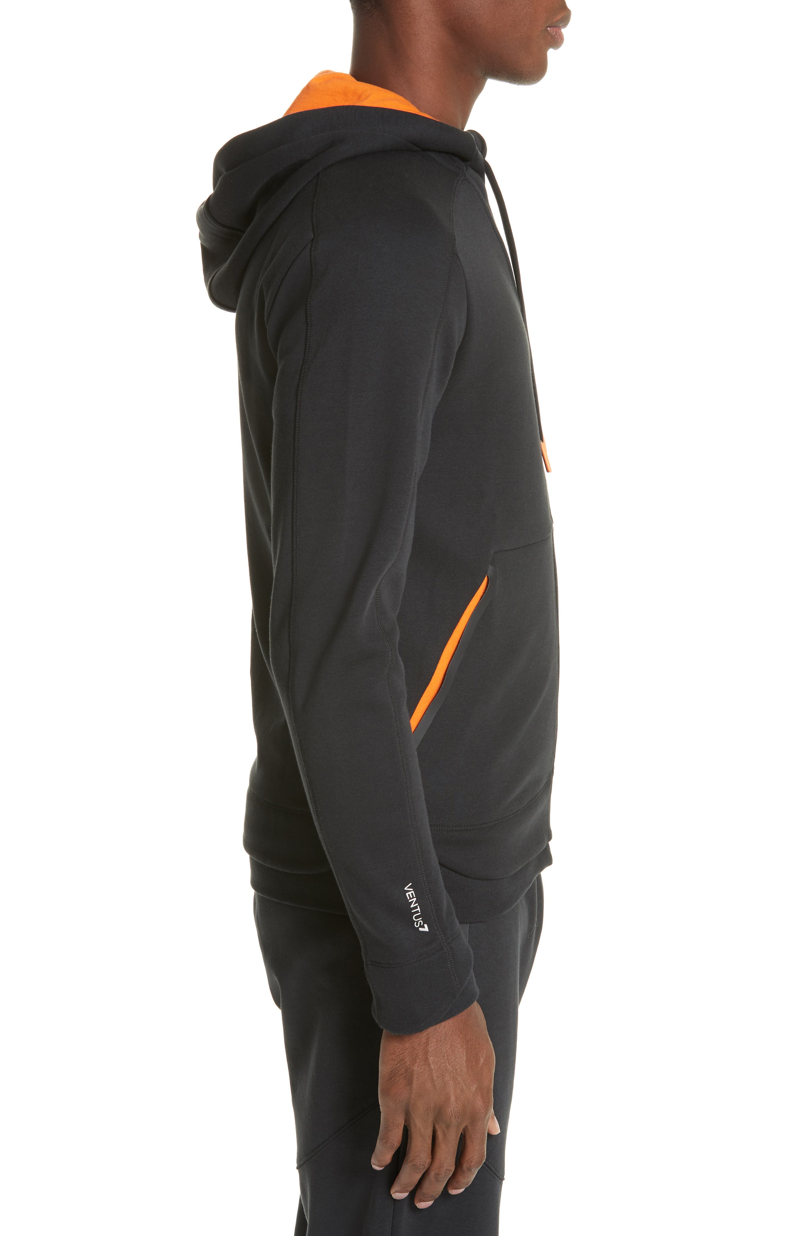 Ventus Zip Hoodie,                             Alternate thumbnail 3, color,                             BLACK