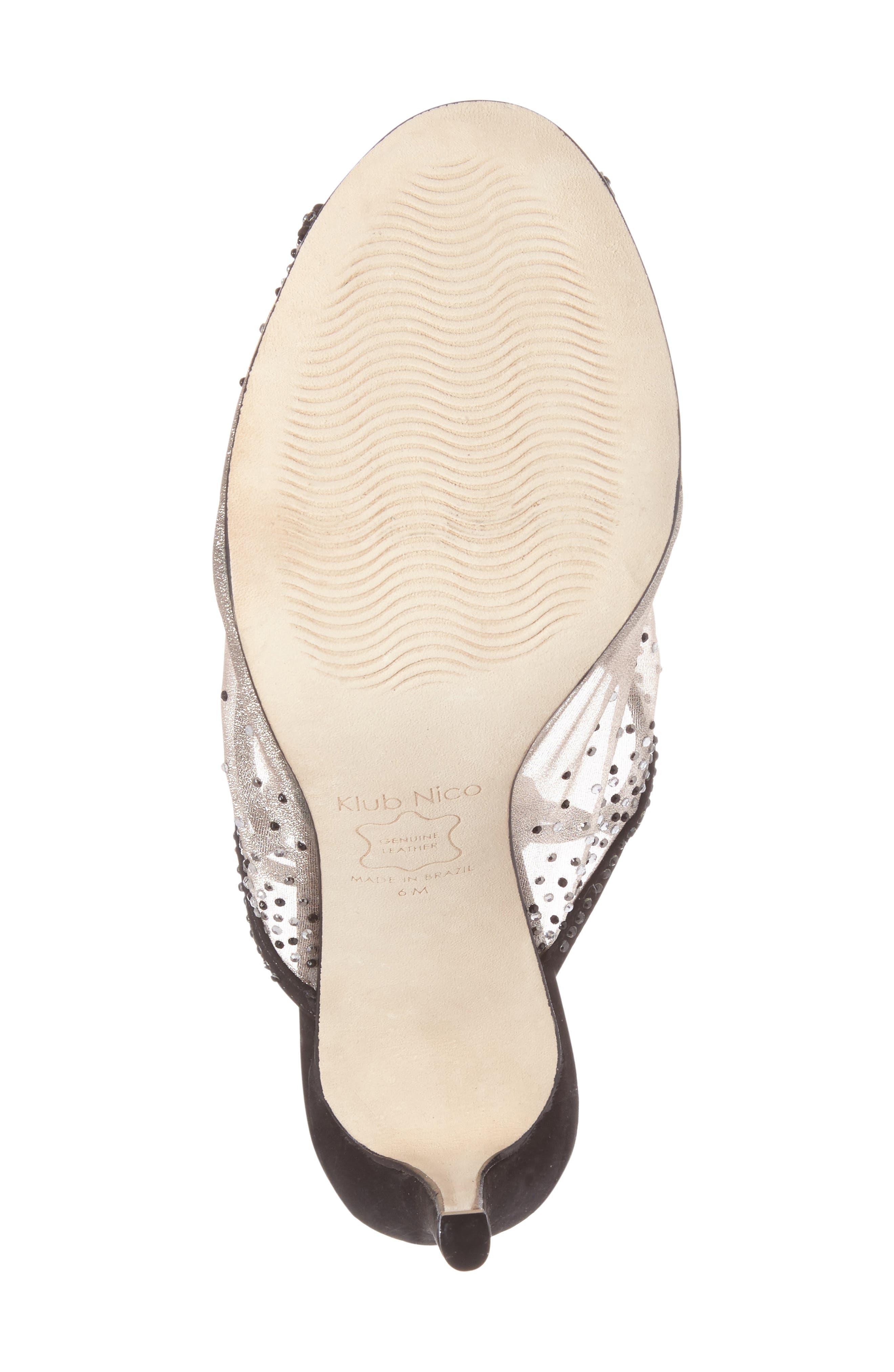 Margeaux Embellished Wraparound Sandal,                             Alternate thumbnail 4, color,                             002