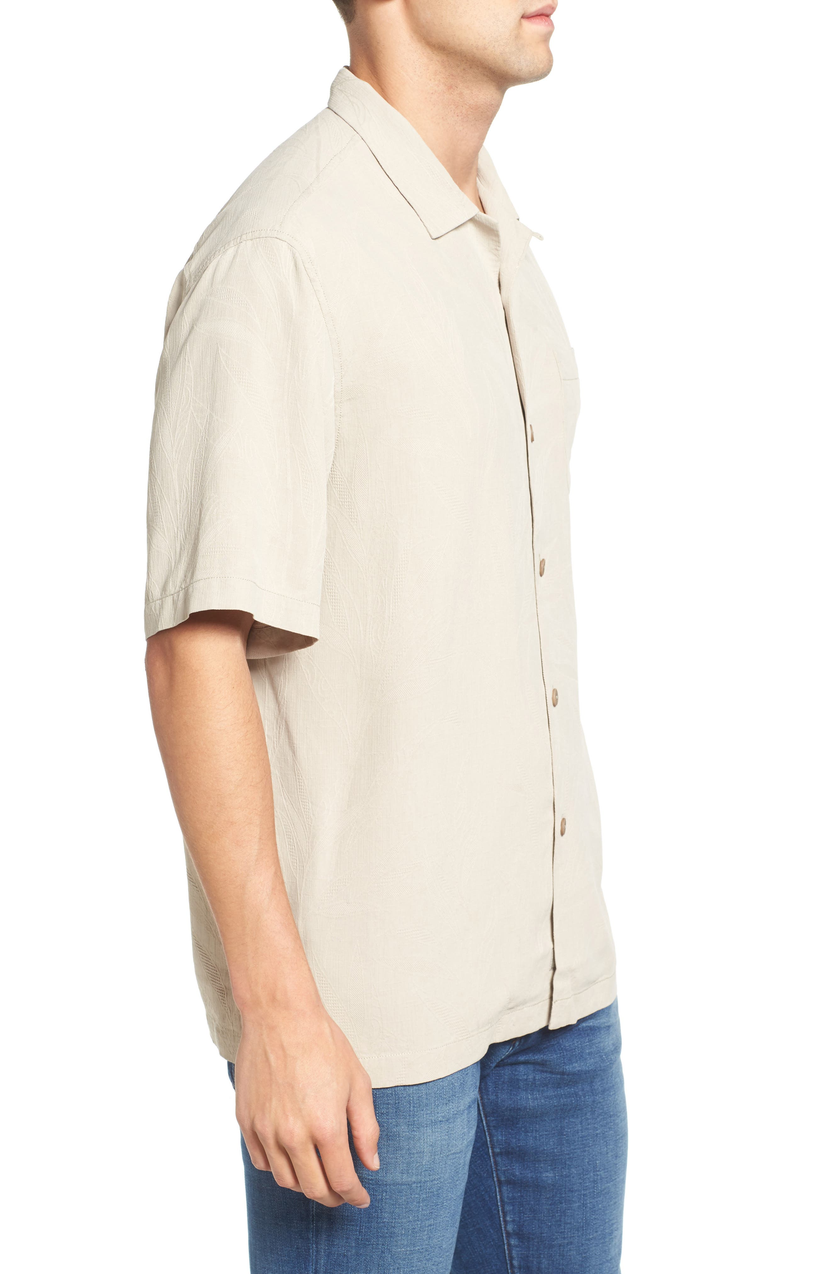 Islander Fronds Silk Camp Shirt,                             Alternate thumbnail 22, color,