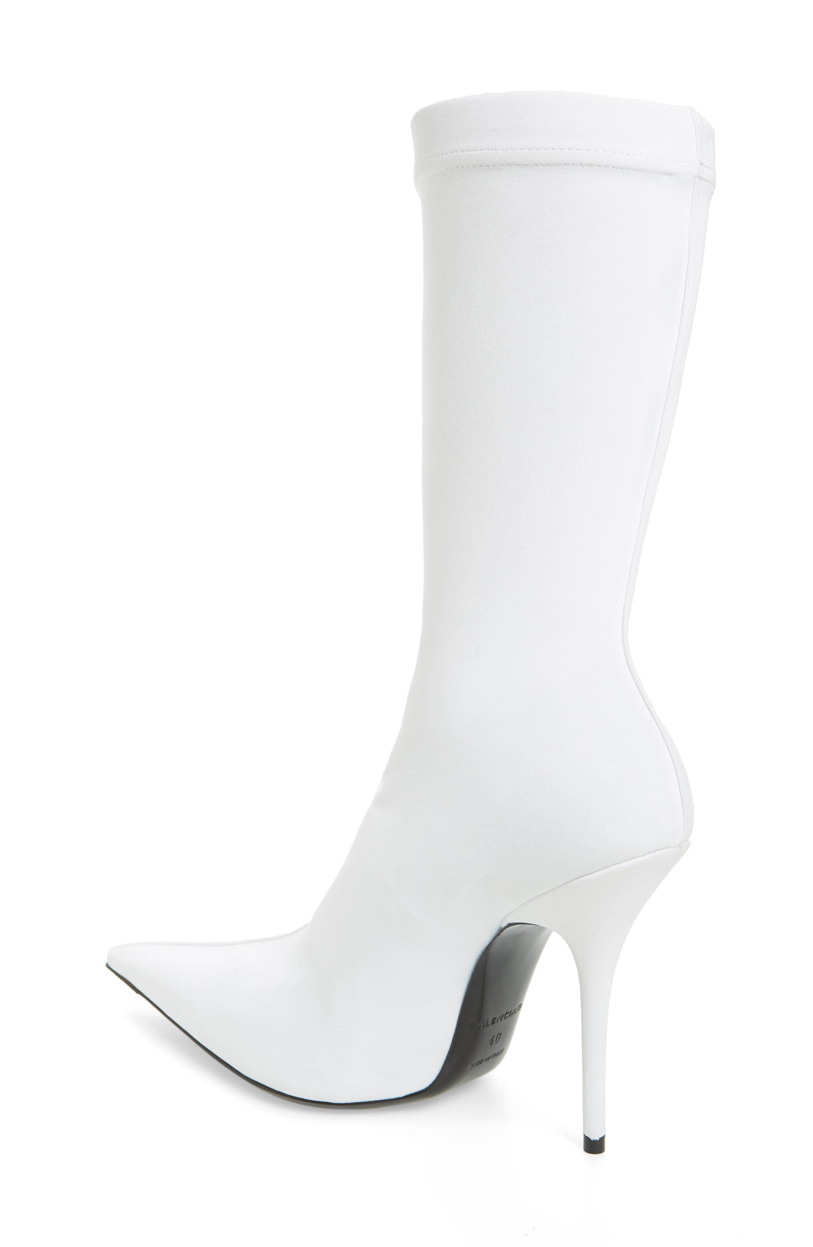 Pointy Toe Mid Boot,                             Alternate thumbnail 2, color,                             WHITE