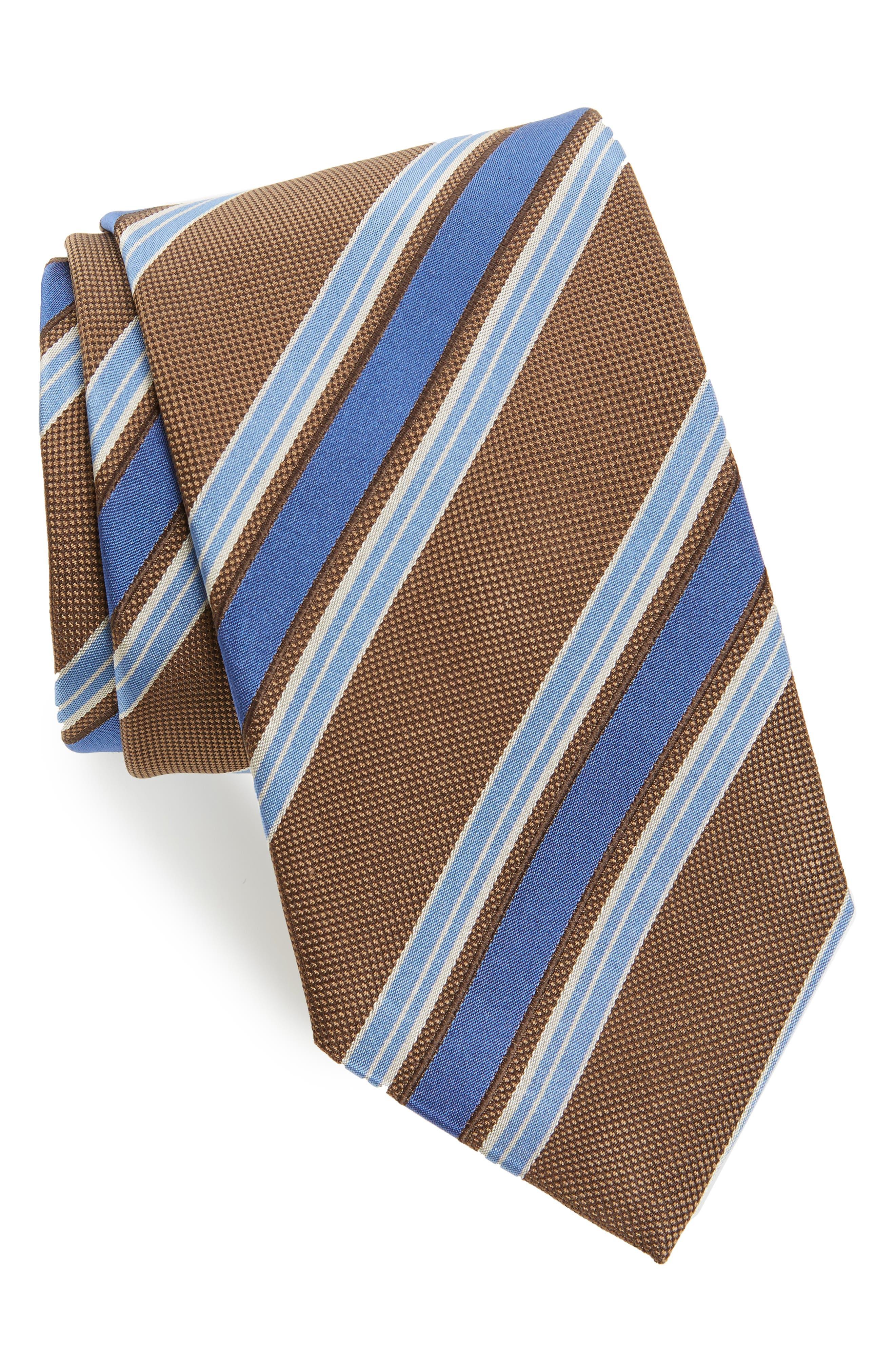 Stripe Silk Tie,                             Main thumbnail 1, color,                             294