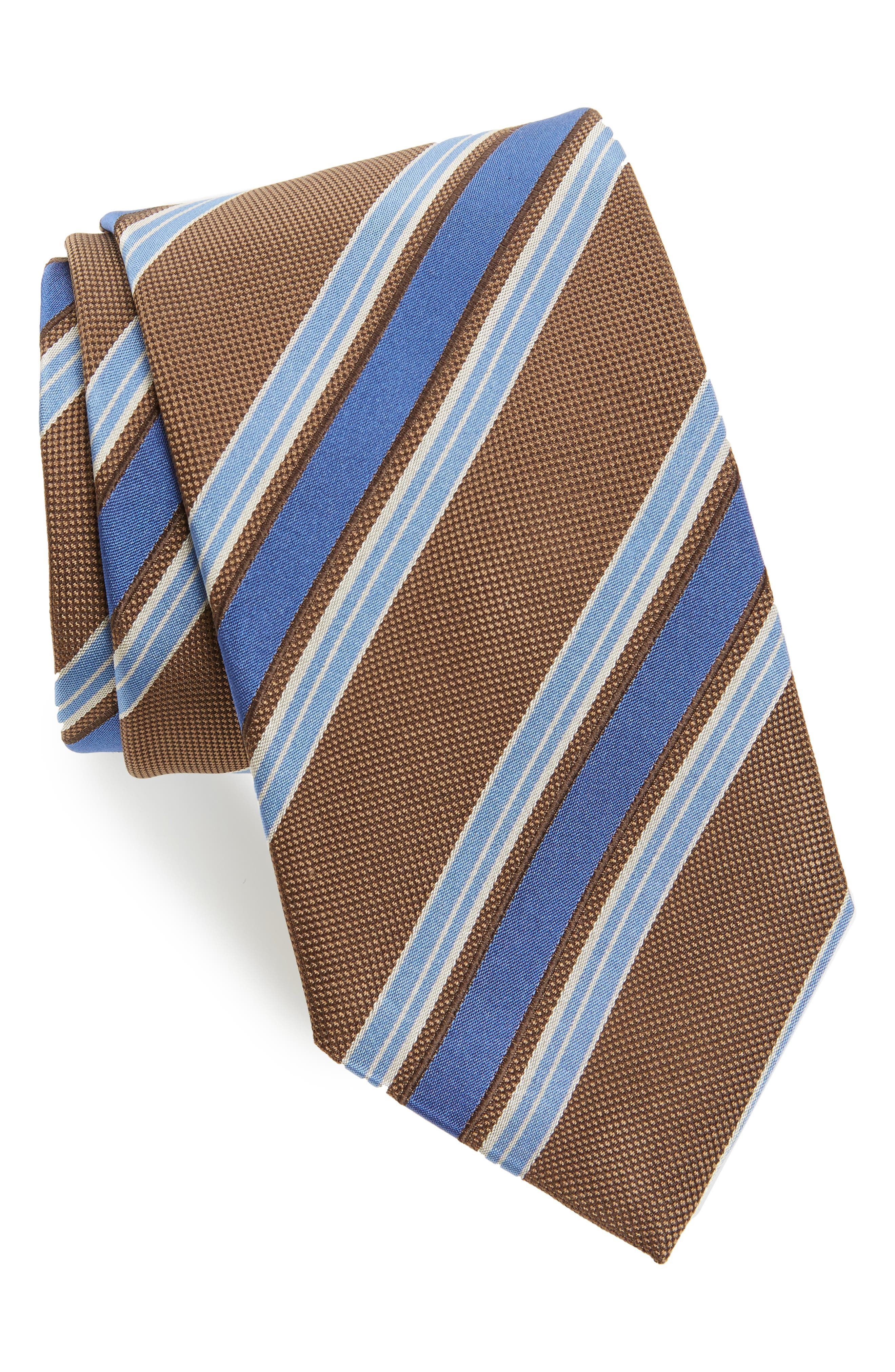 Stripe Silk Tie,                         Main,                         color, 294