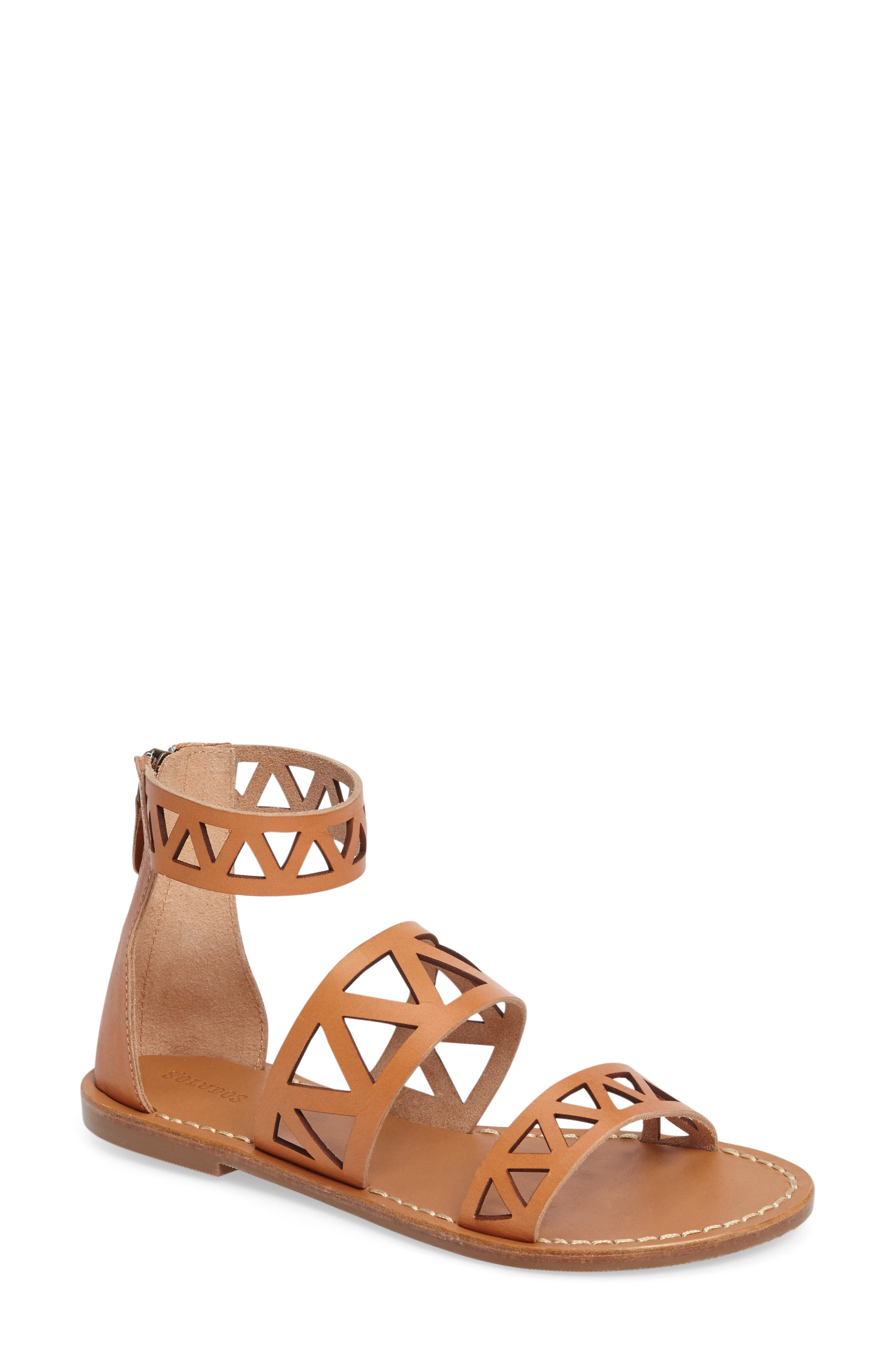 Ankle Cuff Sandal,                             Main thumbnail 1, color,                             200