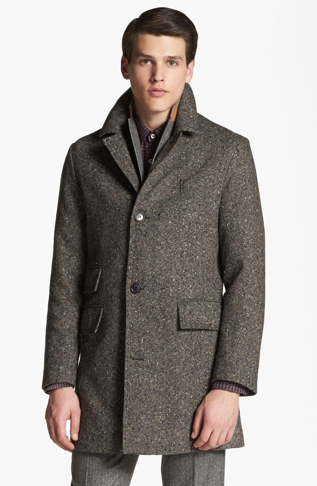 BILLY REID 'Astor' Tweed Overcoat, Main, color, 092