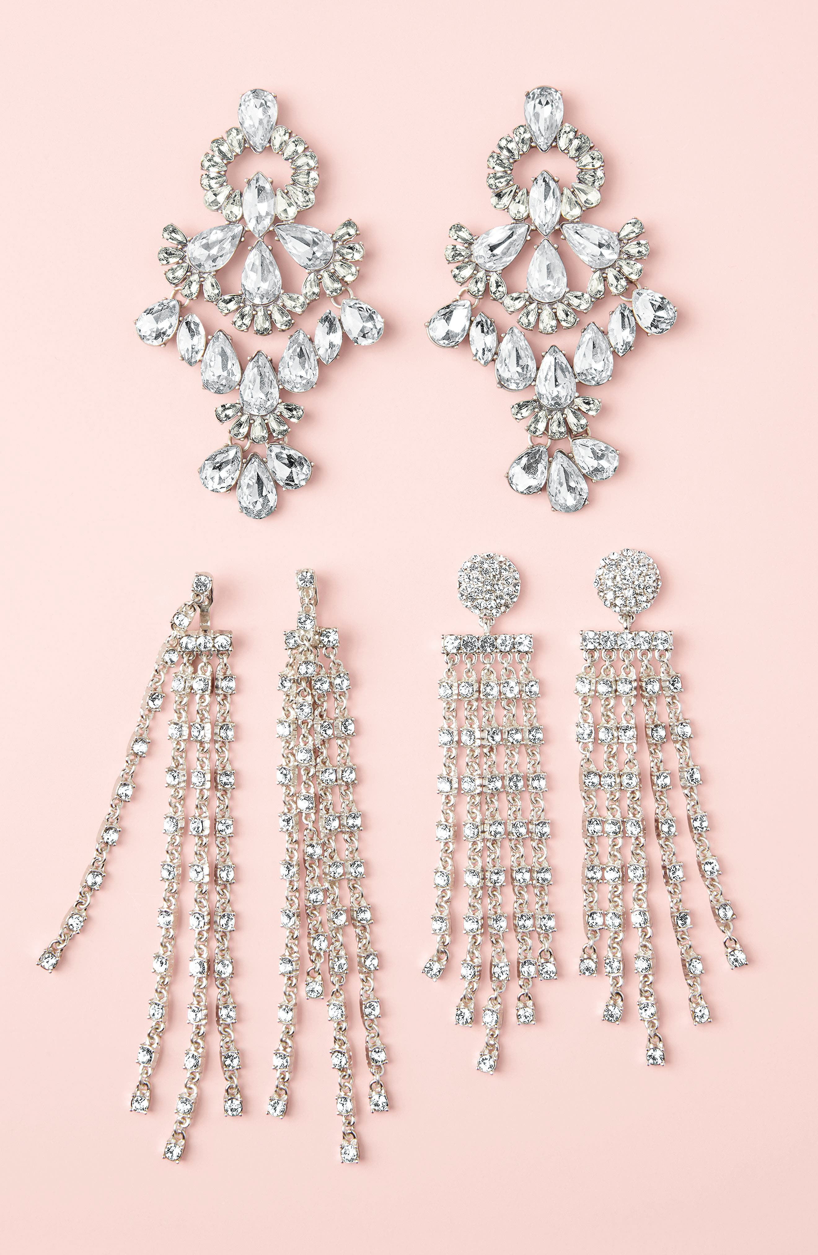 Prima Donna Crystal Drop Earrings,                             Alternate thumbnail 4, color,                             040