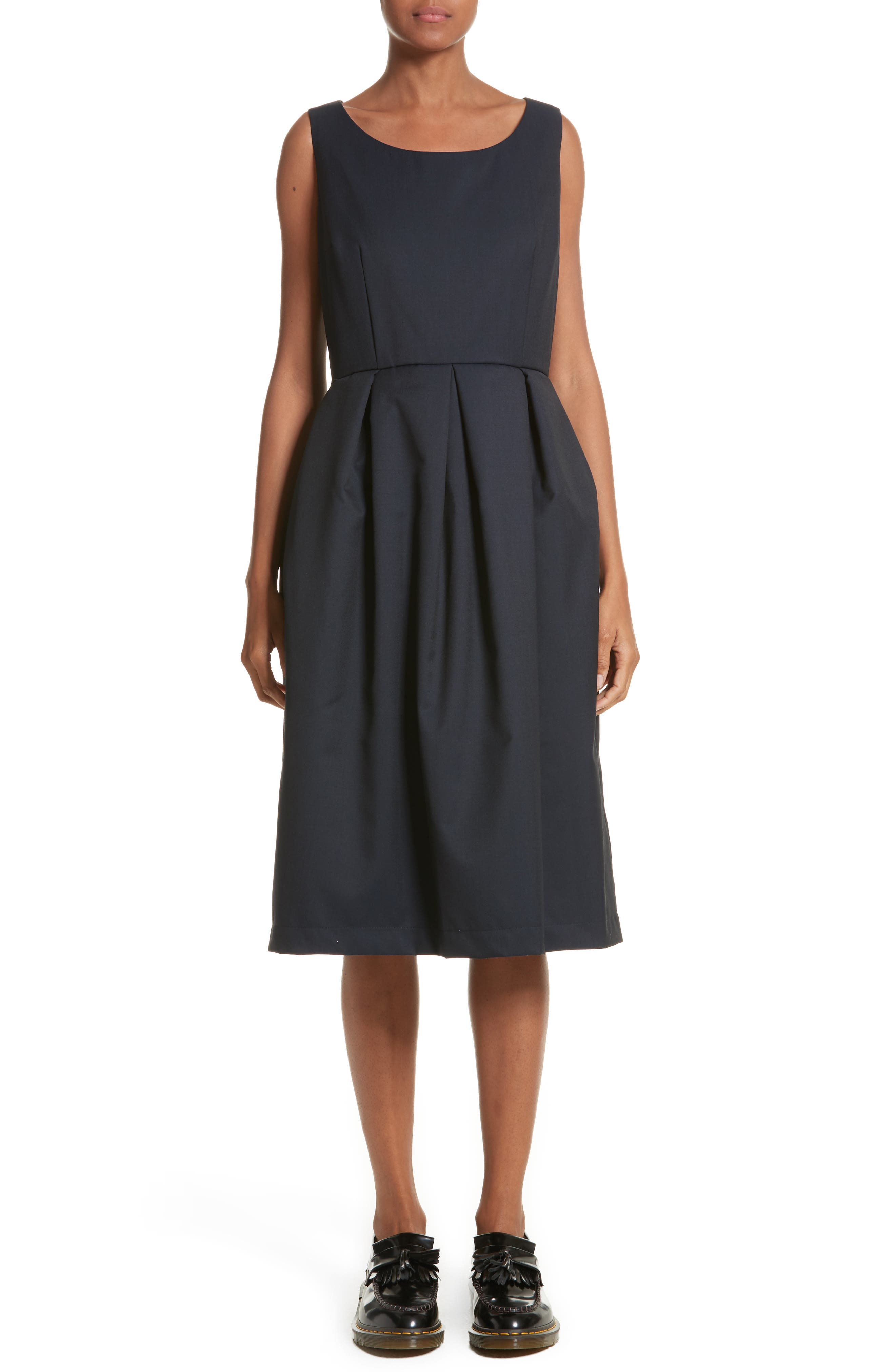 Comme de Garçons Sleeveless Fit & Flare Dress,                             Main thumbnail 1, color,                             400