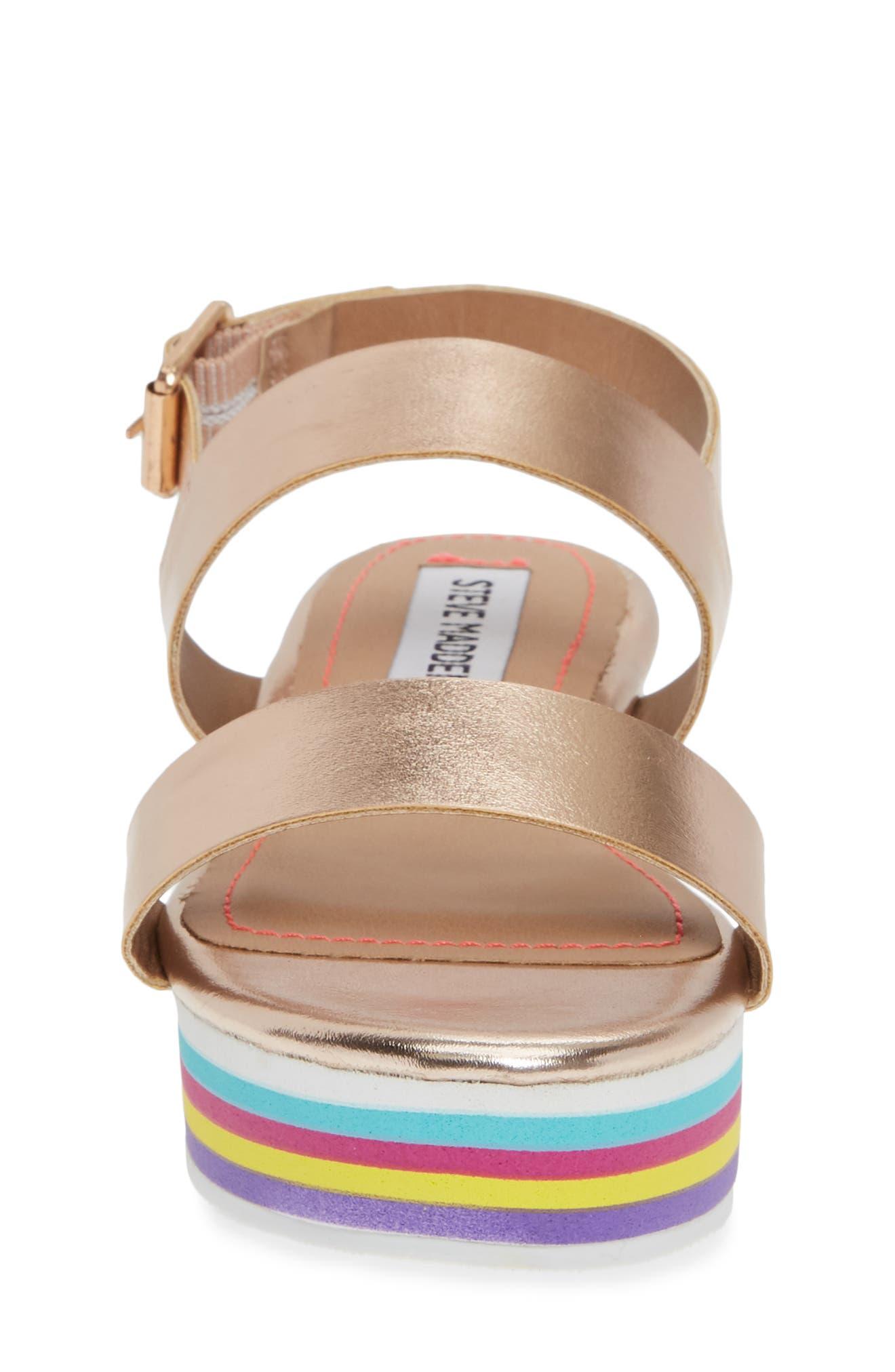 JKylie Platform Sandal,                             Alternate thumbnail 4, color,                             ROSE GOLD