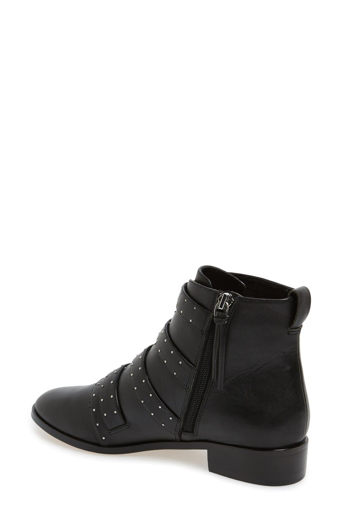 REBECCA MINKOFF,                             'Maddox' Buckle Bootie,                             Alternate thumbnail 3, color,                             001