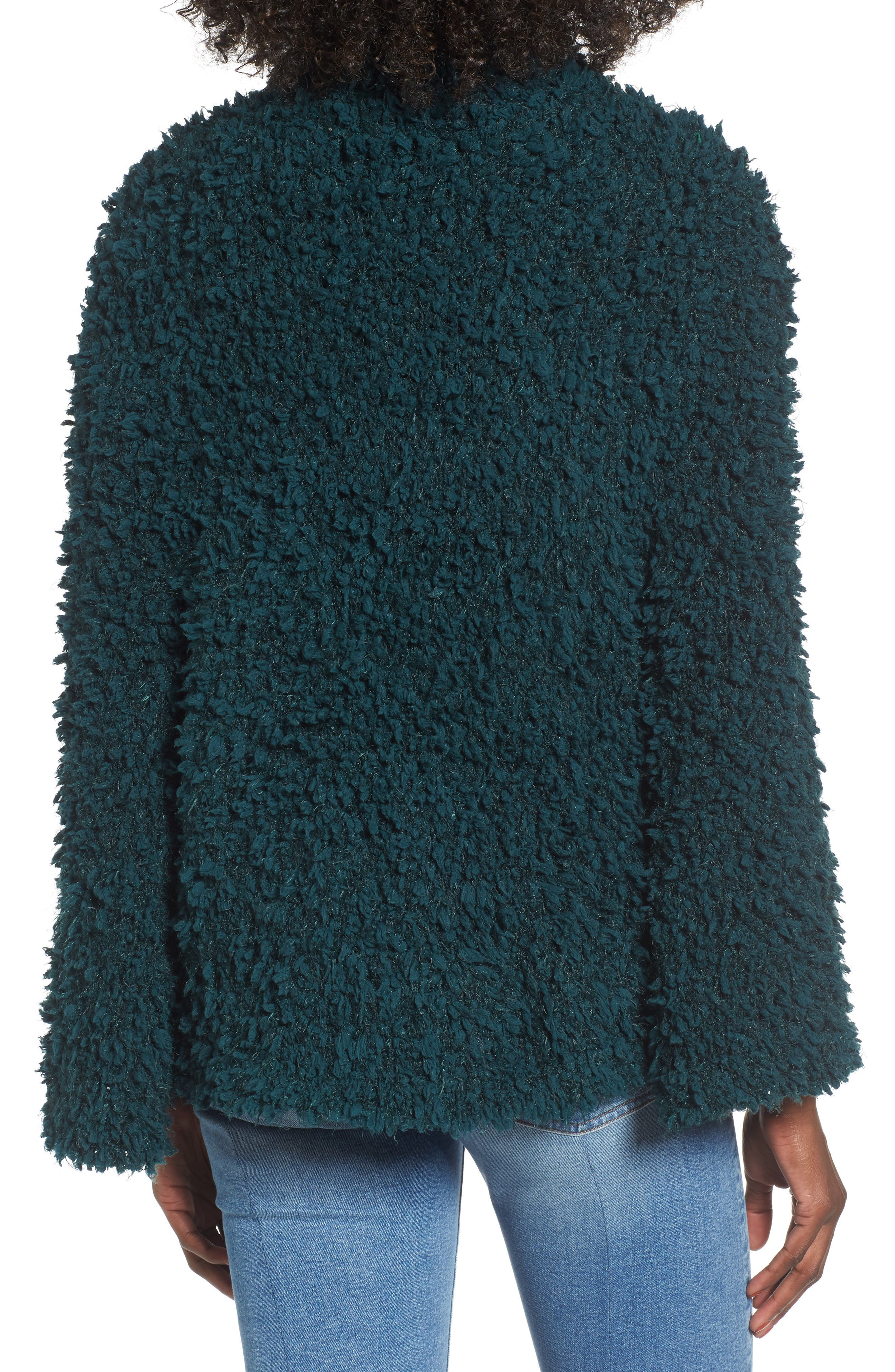 Fluffy Knit Cardigan,                             Alternate thumbnail 2, color,