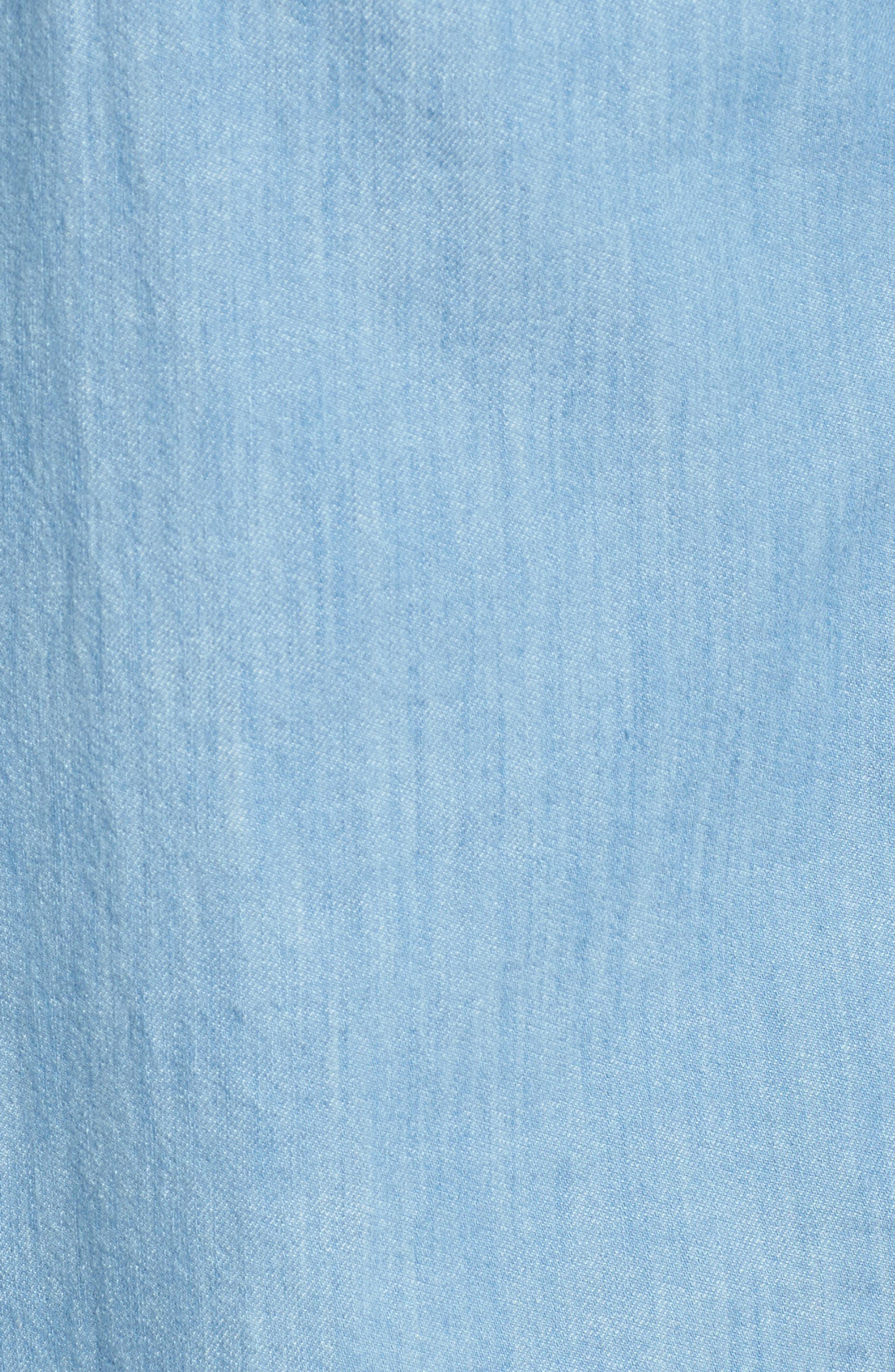 Lightkeeper Slim Fit Chambray Sport Shirt,                             Alternate thumbnail 5, color,                             429