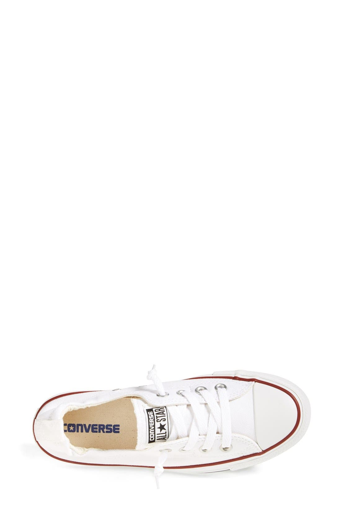 CONVERSE,                             Chuck Taylor<sup>®</sup> 'Shoreline' Sneaker,                             Alternate thumbnail 2, color,                             WHITE