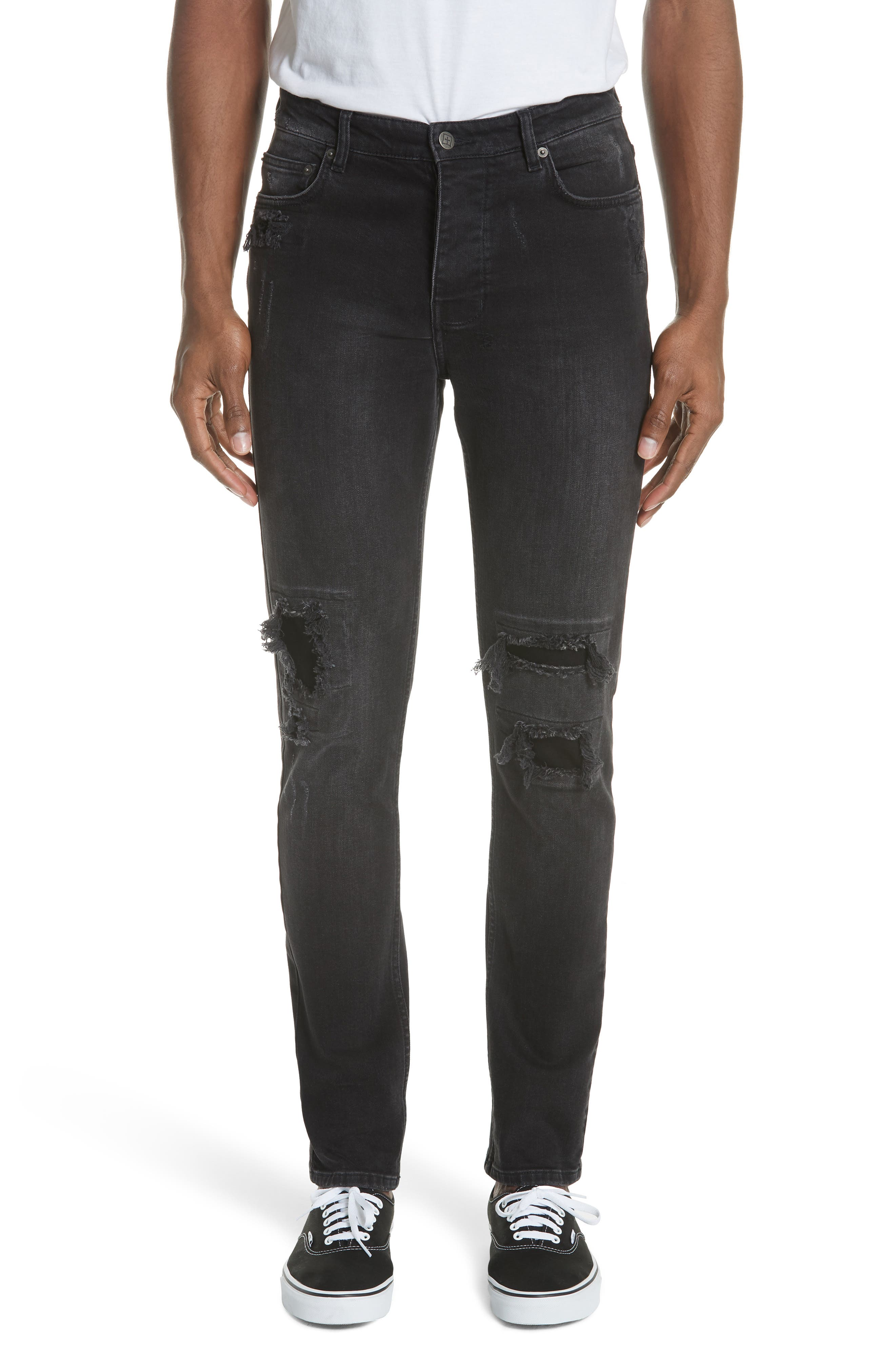 Chitch Boneyard Skinny Fit Jeans,                         Main,                         color, BLACK