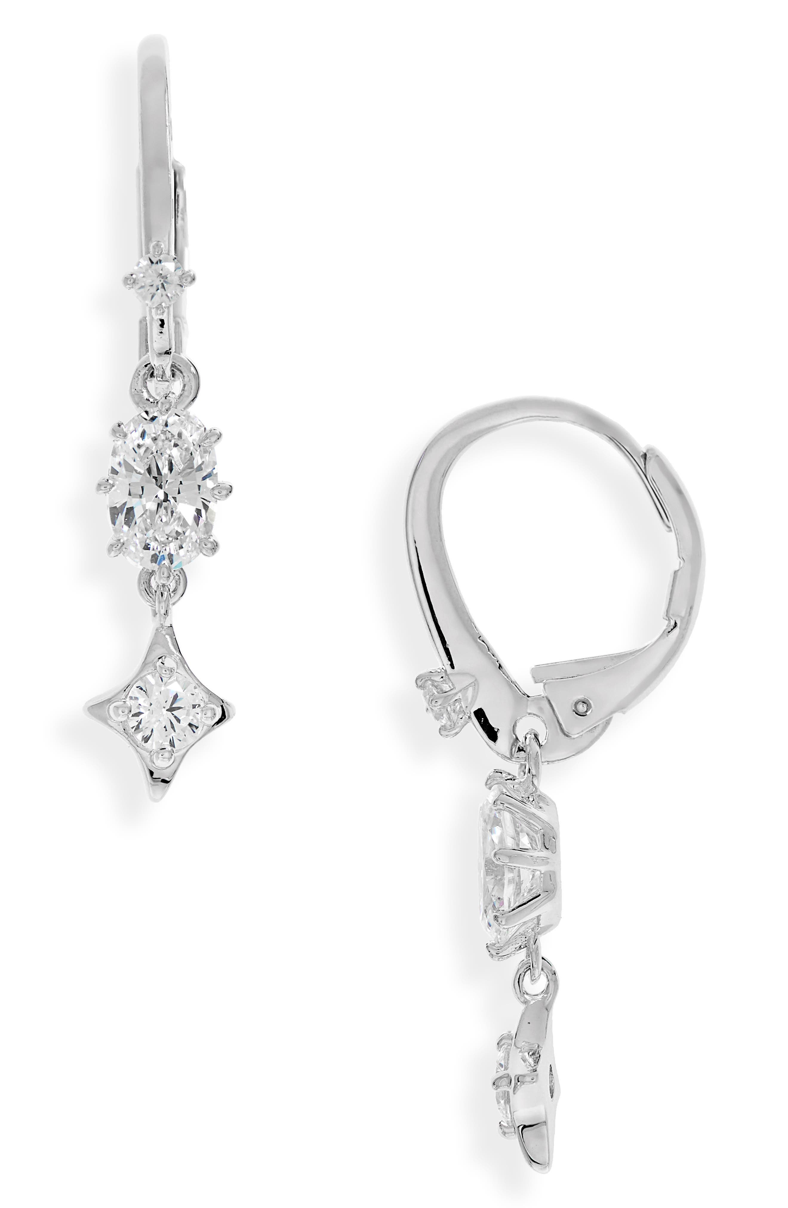 Boho Cubic Zirconia Drop Earrings,                         Main,                         color,