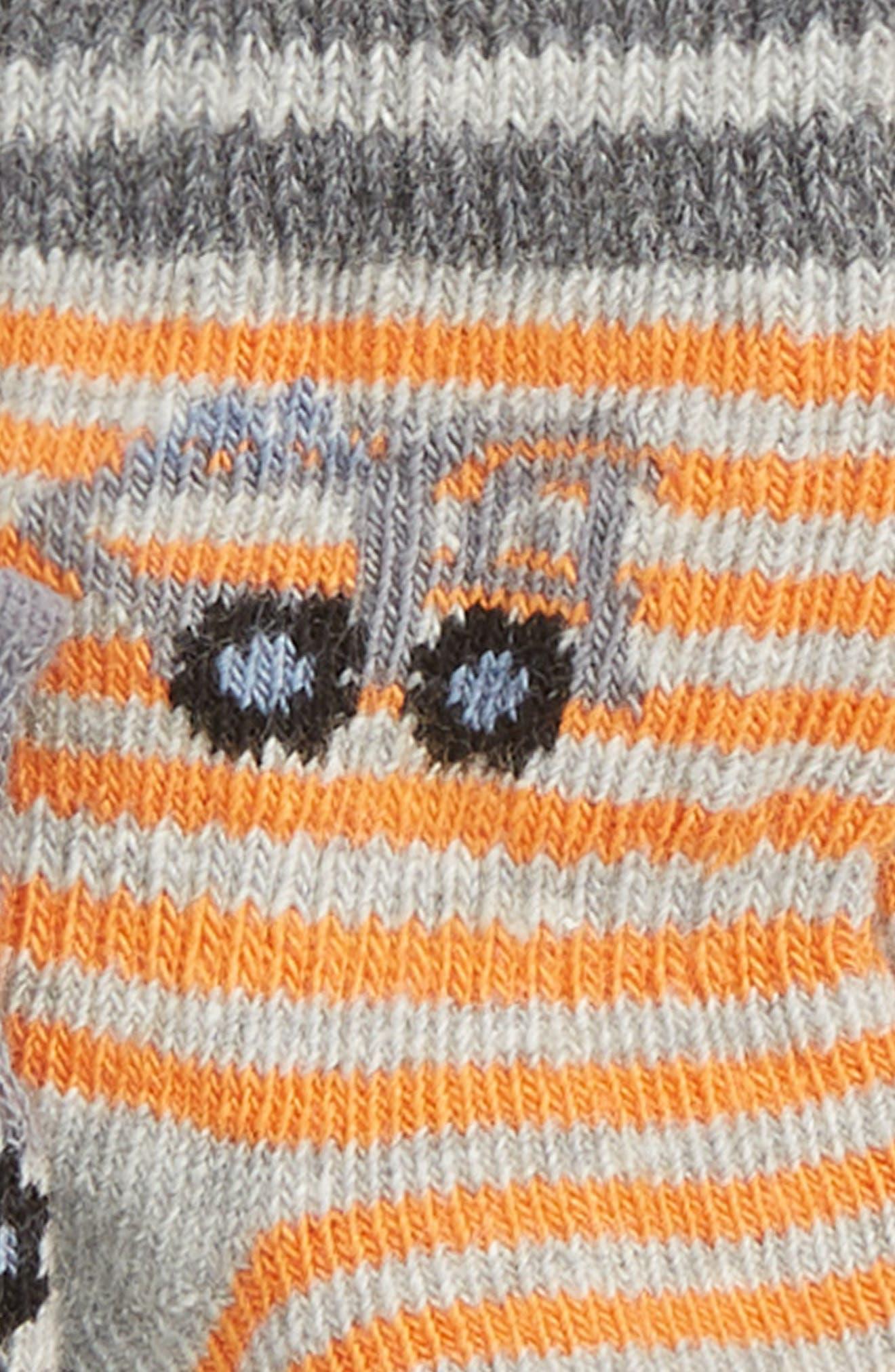 Gravel & Gears 3-Pack Socks,                             Alternate thumbnail 2, color,                             GREY/ ORANGE/ BLUE