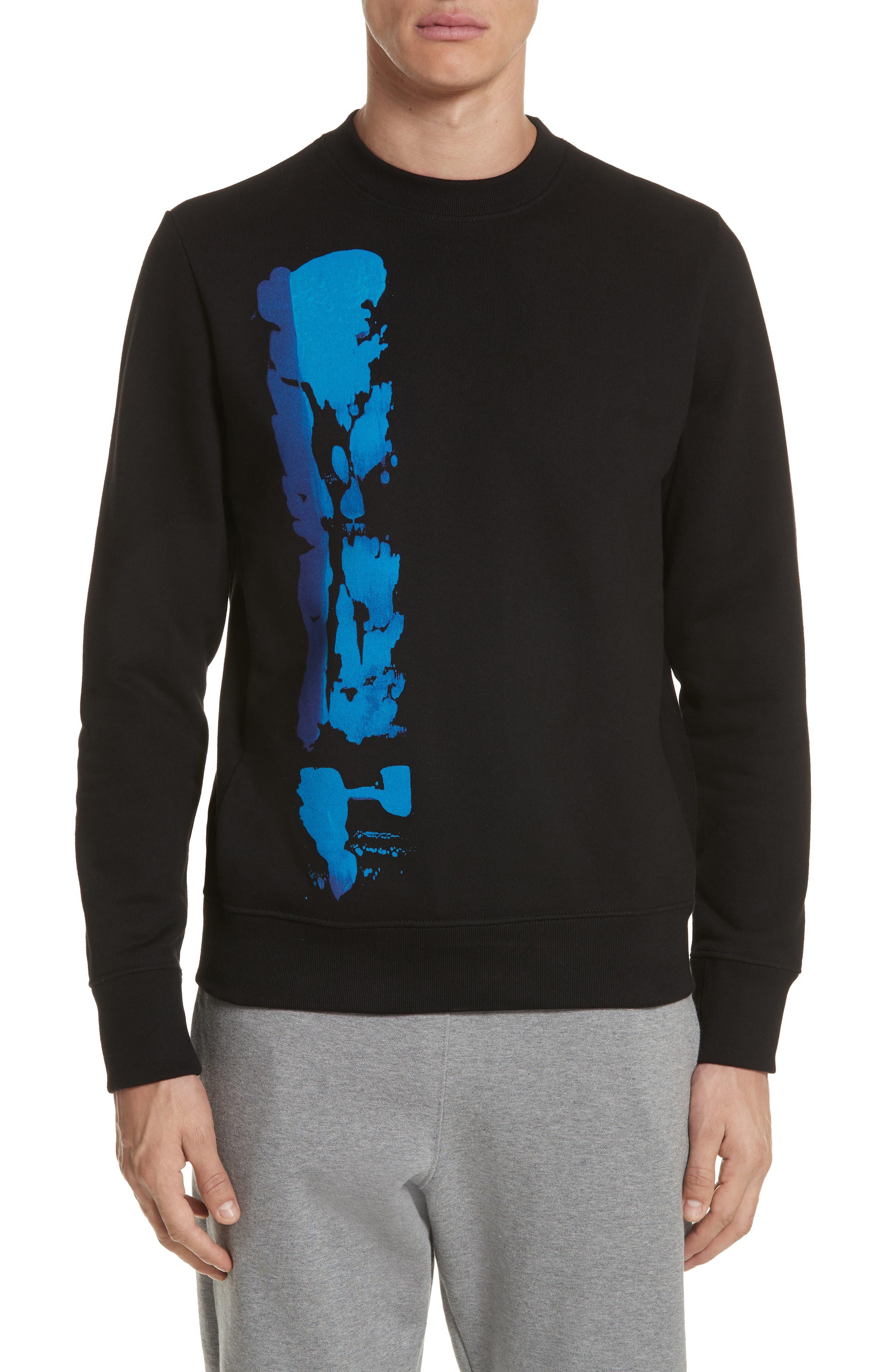 Abstract Brush Graphic Sweatshirt,                         Main,                         color, 001