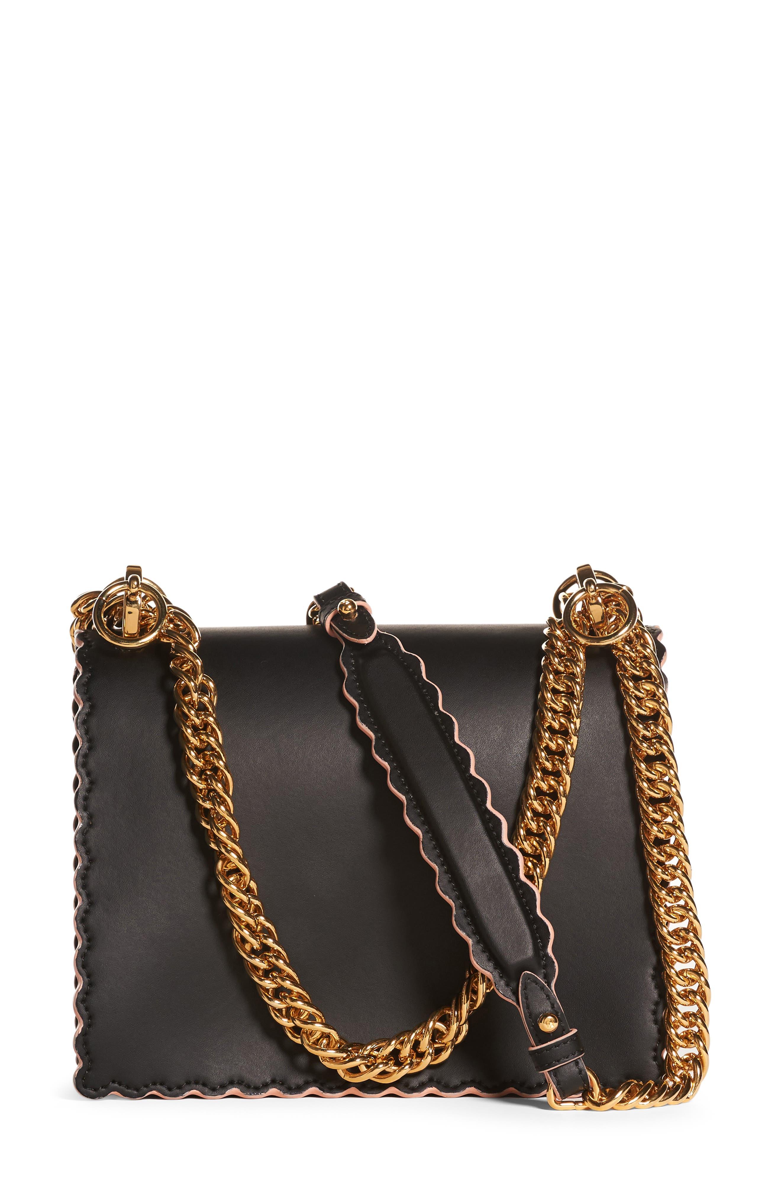 Small Kan I Scallop Leather Shoulder Bag,                             Alternate thumbnail 4, color,