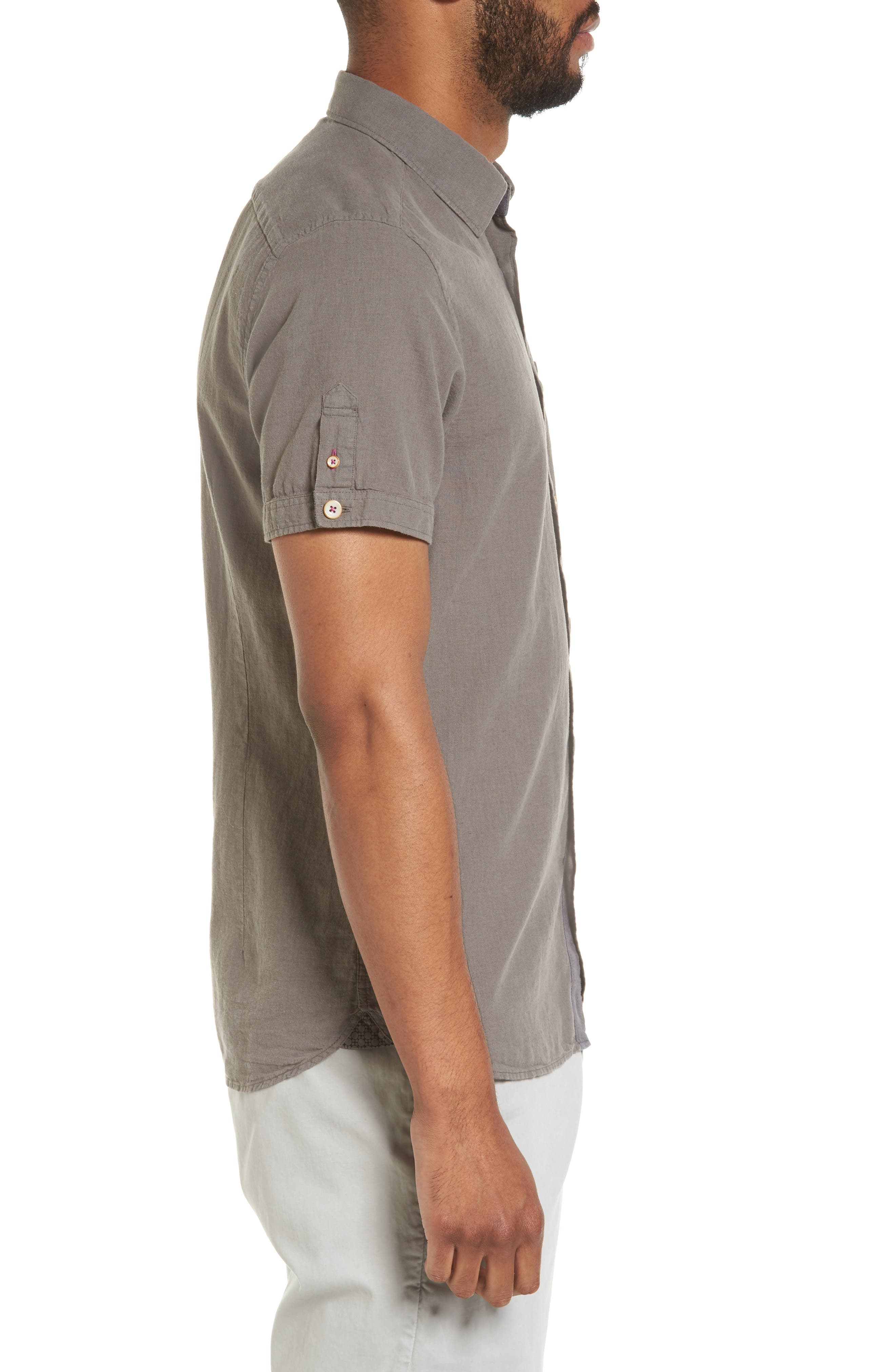 Shrwash Modern Slim Fit Sport Shirt,                             Alternate thumbnail 3, color,                             030