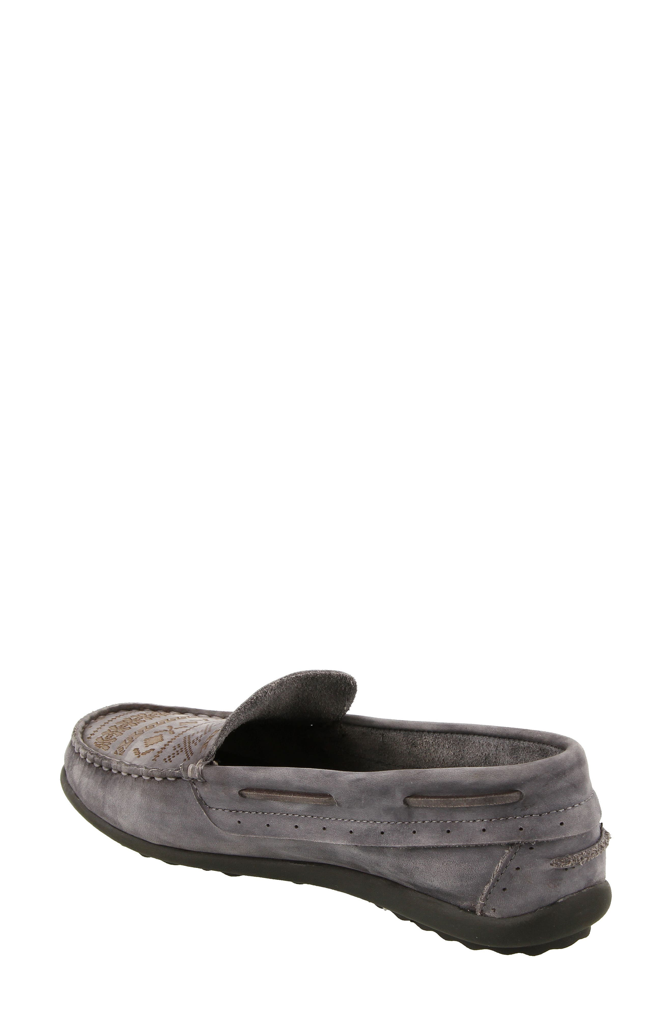 Heritage Moccasin Flat,                             Alternate thumbnail 2, color,                             STEEL GREY LEATHER