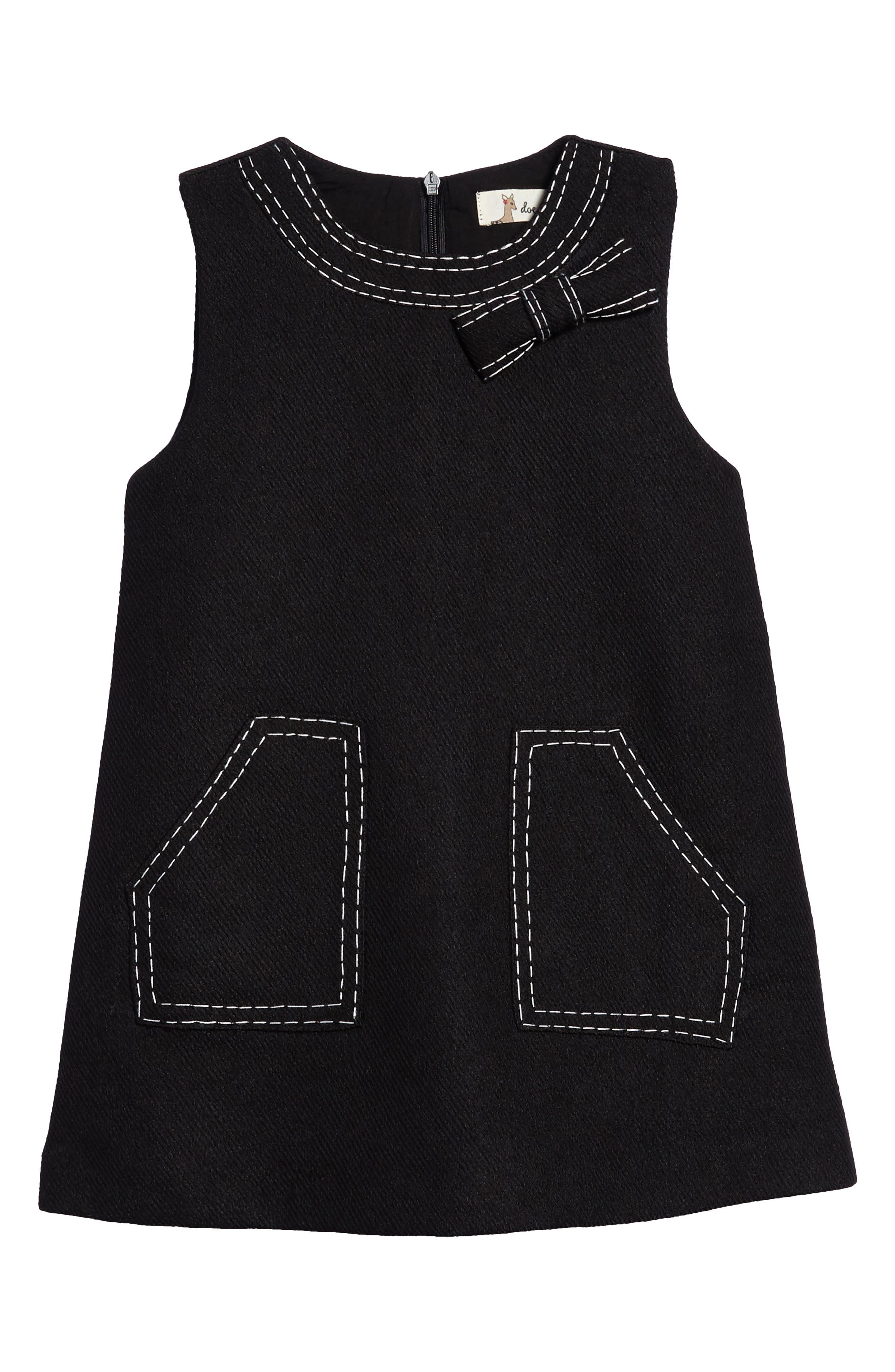 Mod Sleeveless Shift Dress,                             Main thumbnail 1, color,                             001